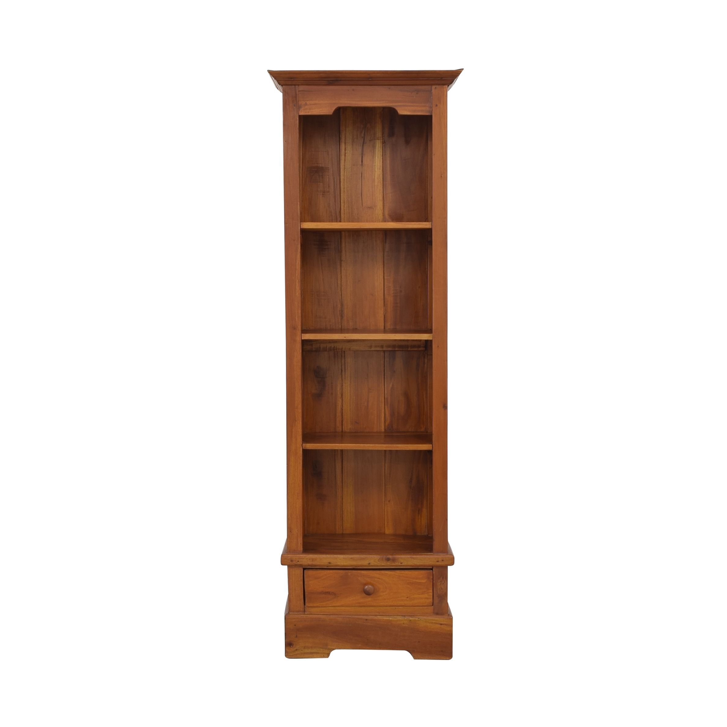 Tall Wood Bookcase with Storage Drawer ma