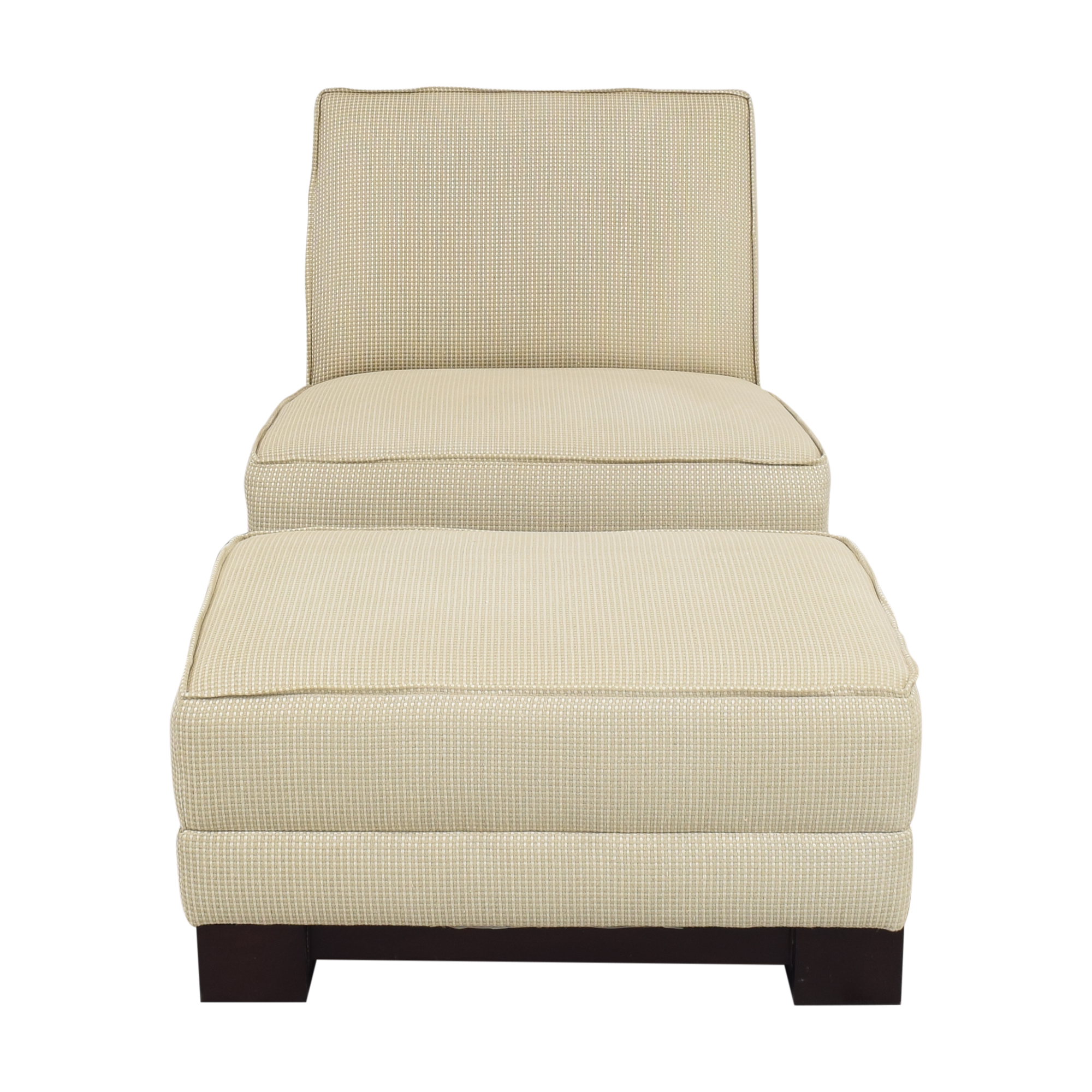 Ralph Lauren Home Ralph Lauren Home Hasley Slipper Chair with Ottoman nj