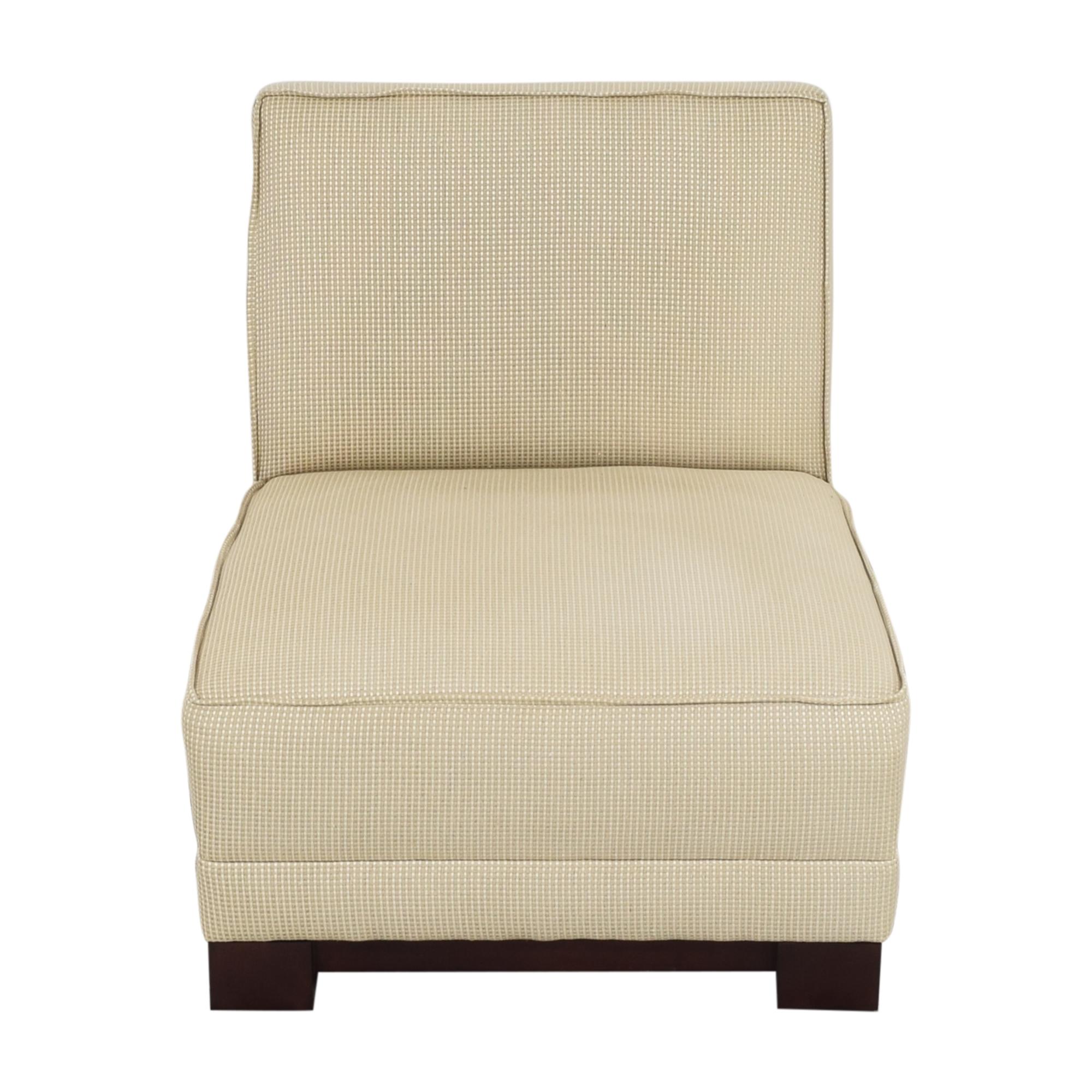 Ralph Lauren Home Ralph Lauren Home Hasley Slipper Chair with Ottoman for sale