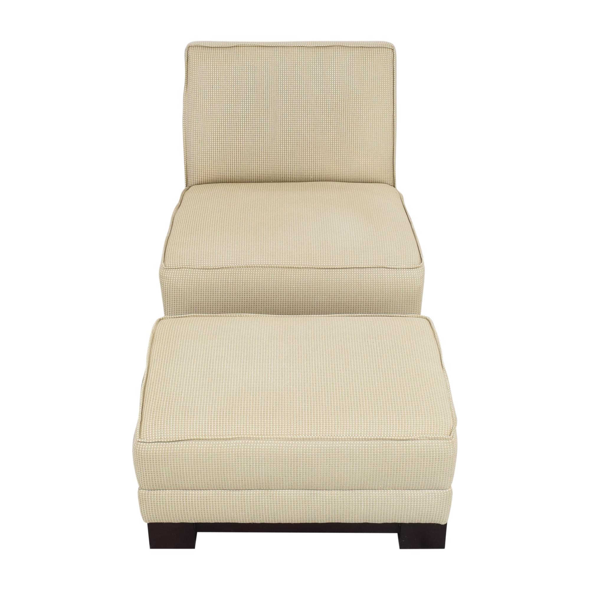 Ralph Lauren Home Ralph Lauren Home Hasley Slipper Chair with Ottoman price