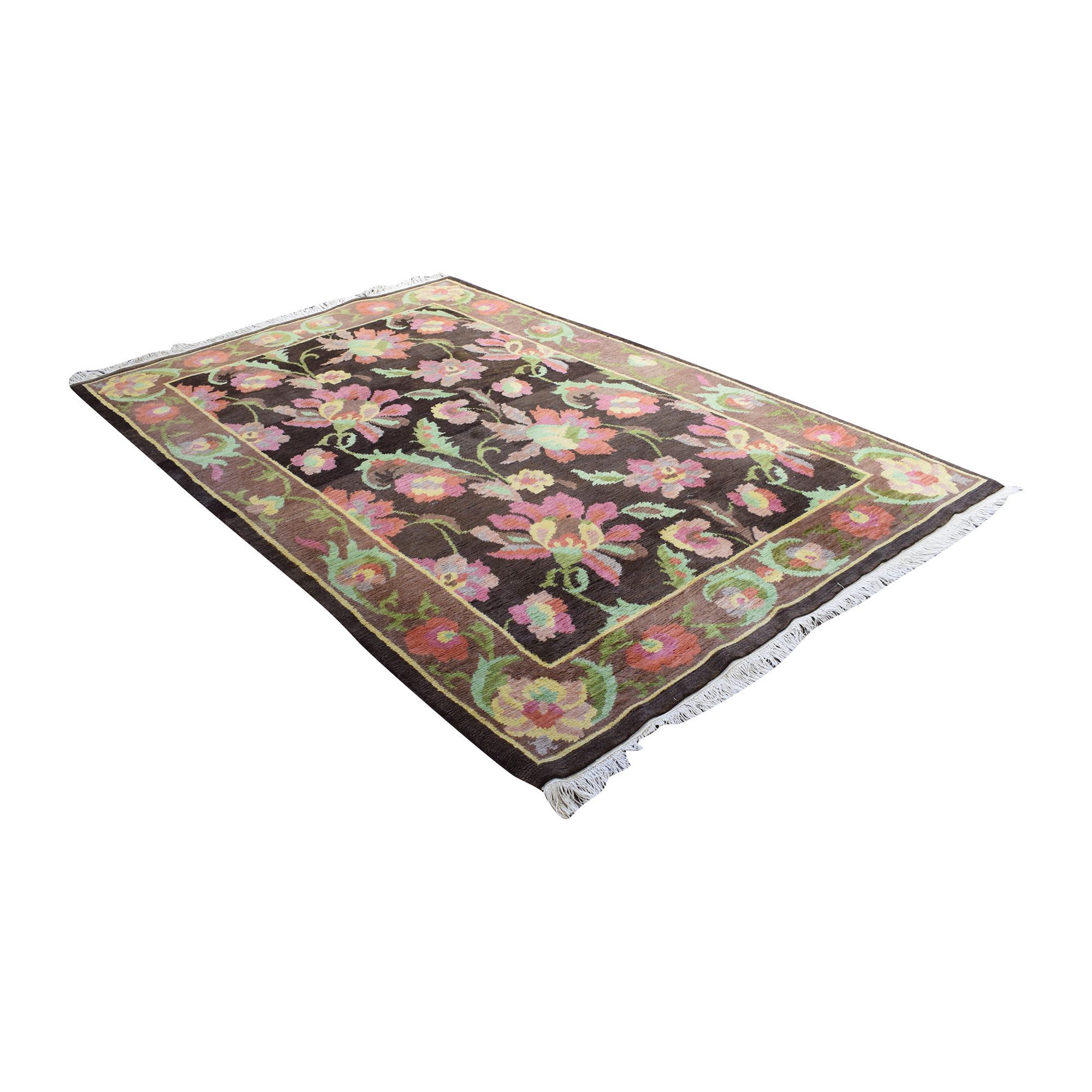 Floral Pattern Area Rug pa