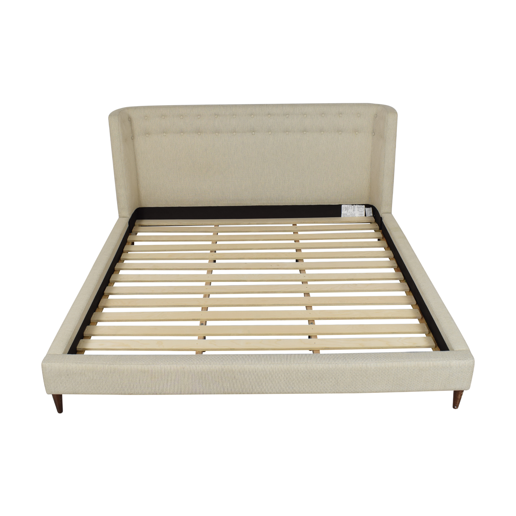 Crate & Barrel Crate & Barrel Gia Upholstered King Bed ct