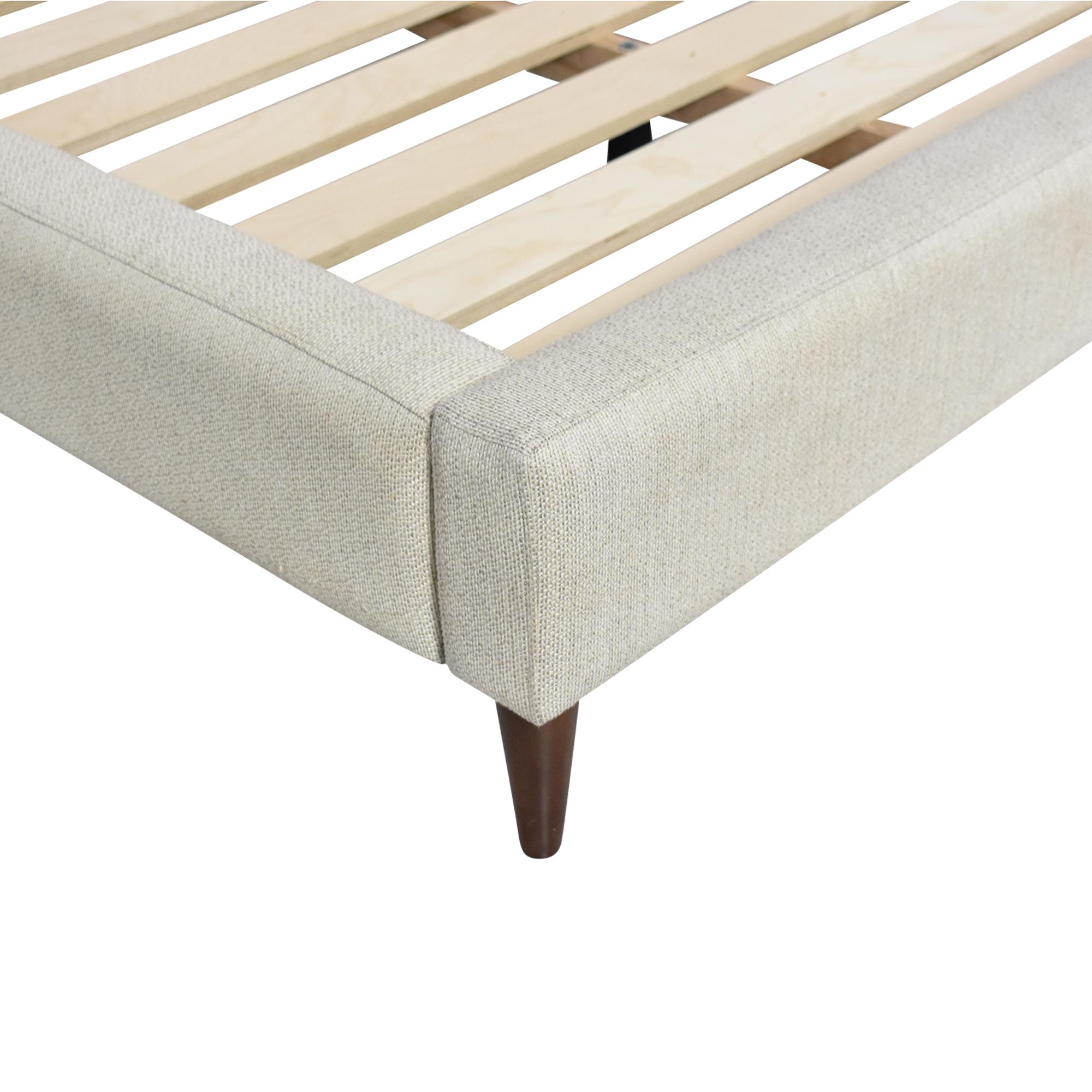 shop Crate & Barrel Gia Upholstered King Bed Crate & Barrel