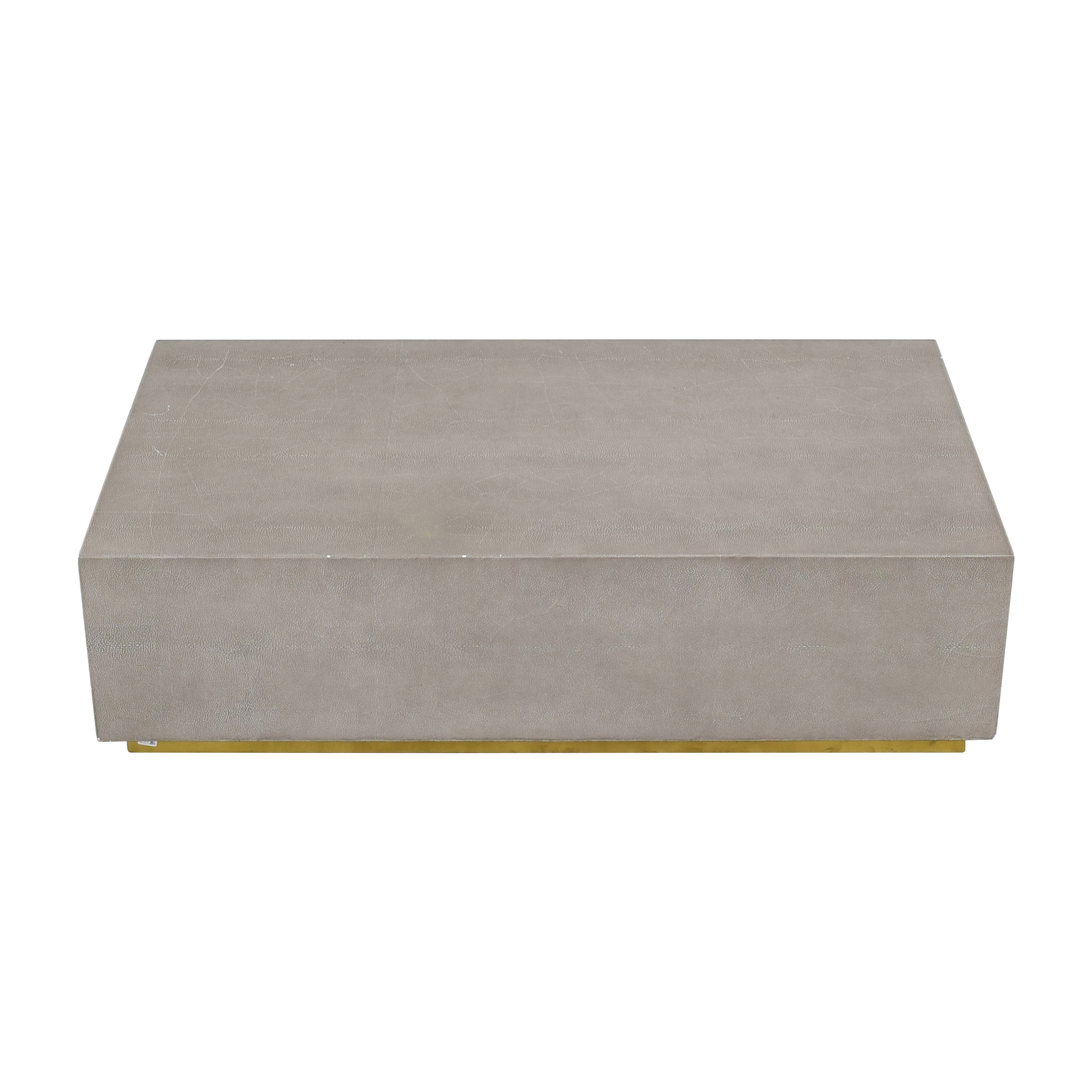 Restoration Hardware Restoration Hardware Graydon Shagreen Plinth Coffee Table for sale