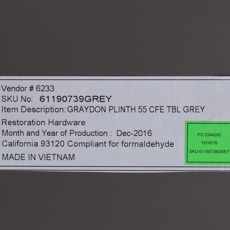 Restoration Hardware Restoration Hardware Graydon Shagreen Plinth Coffee Table discount