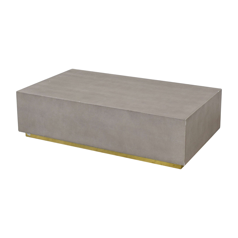 buy Restoration Hardware Graydon Shagreen Plinth Coffee Table Restoration Hardware