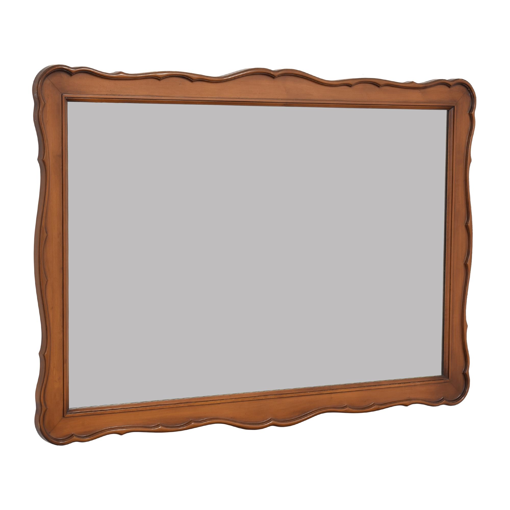 White Fine Furniture Wood Framed Mirror sale