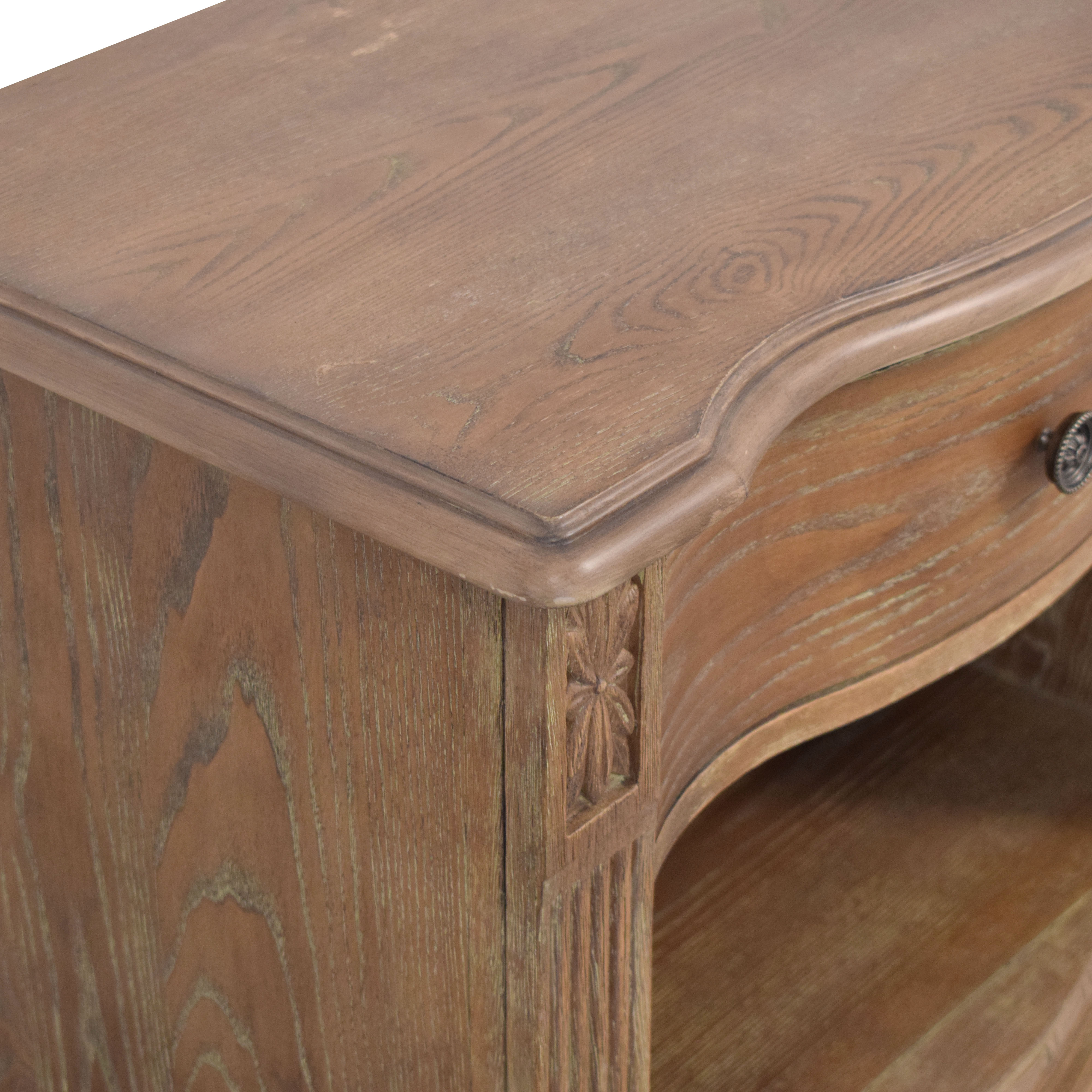 shop Raymour & Flanigan Raymour & Flanigan Rustic Single Drawer End Table online