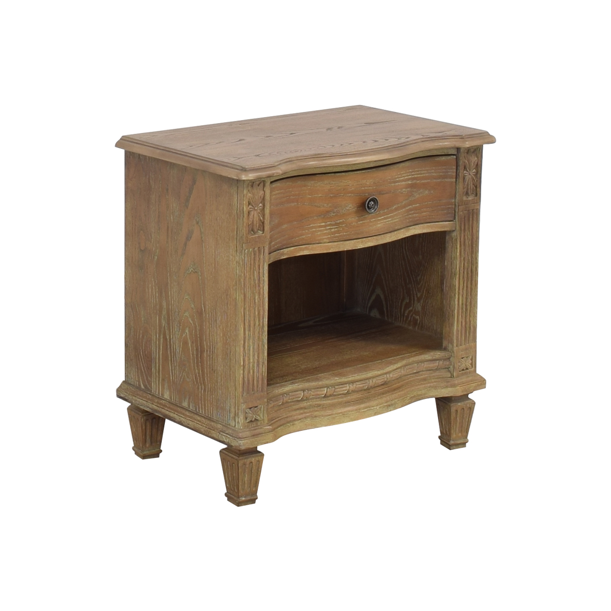 Raymour & Flanigan Raymour & Flanigan Rustic Single Drawer End Table second hand