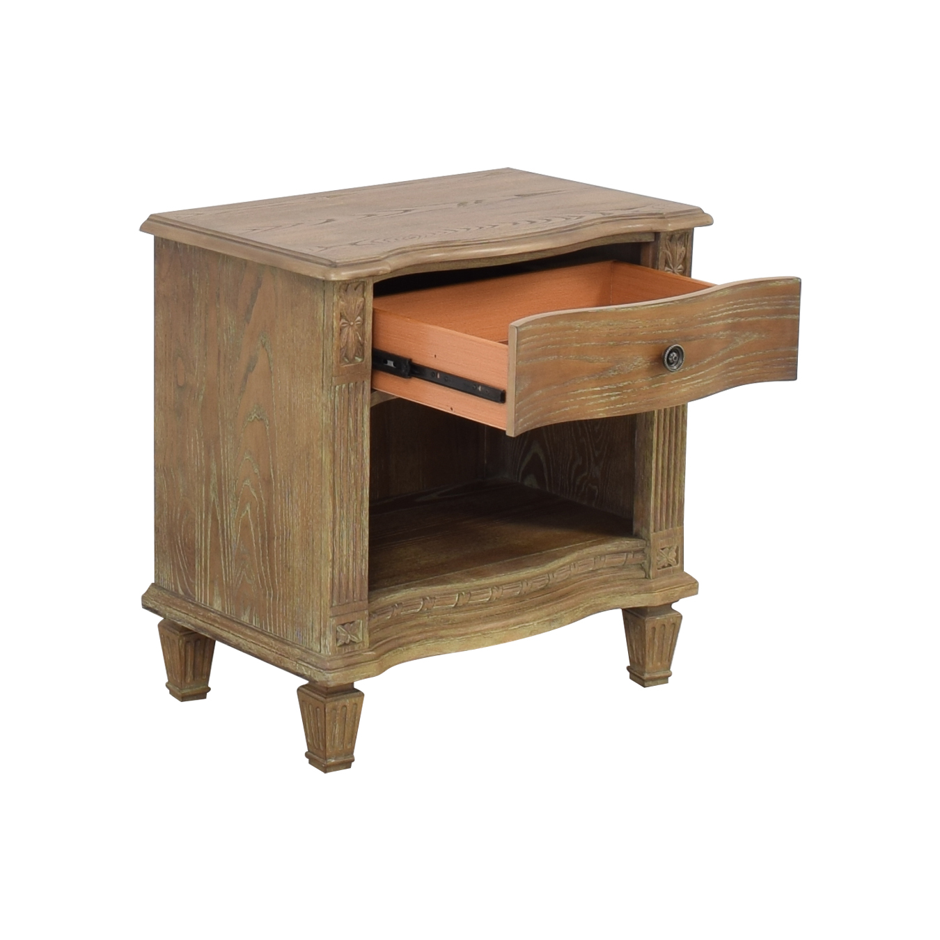 Raymour & Flanigan Rustic Single Drawer End Table / Tables