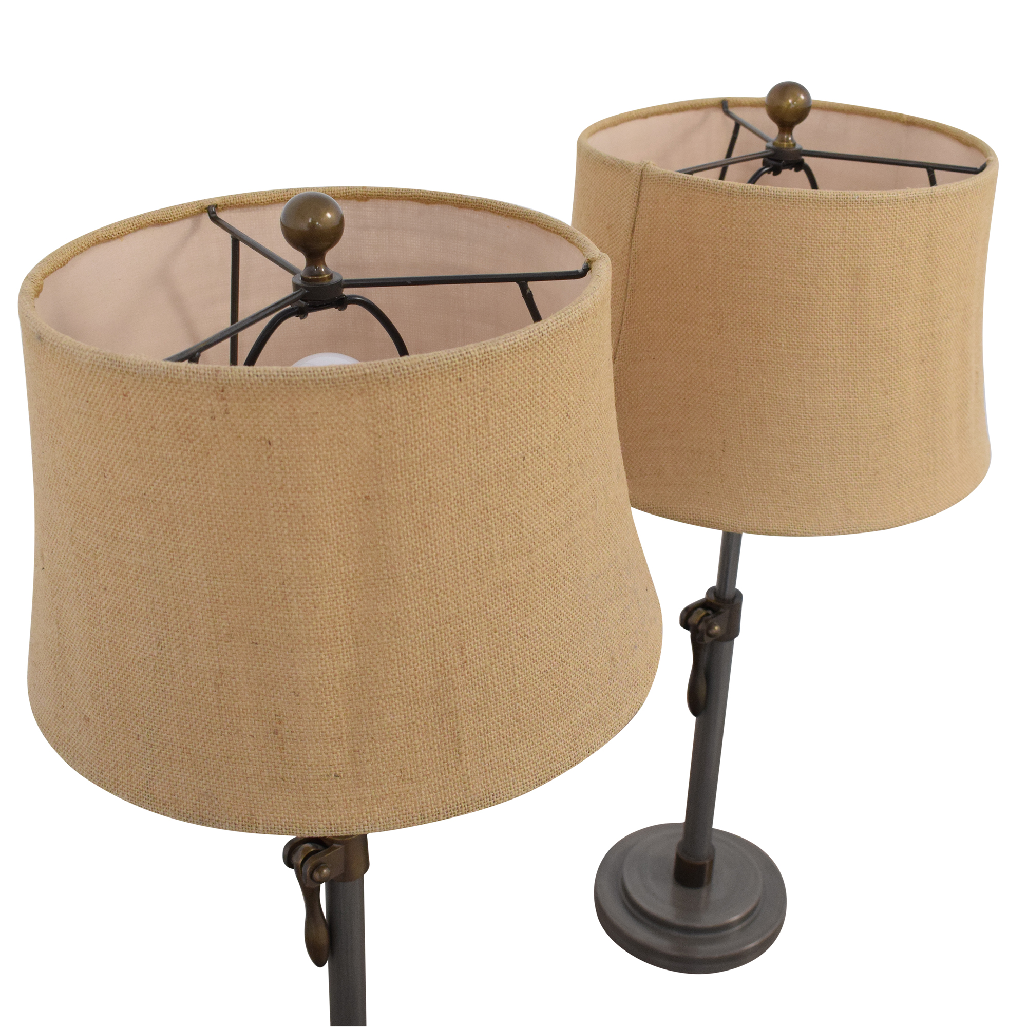 Pottery Barn Pottery Barn Sutter Adjustable Lever Table Lamps grey and beige