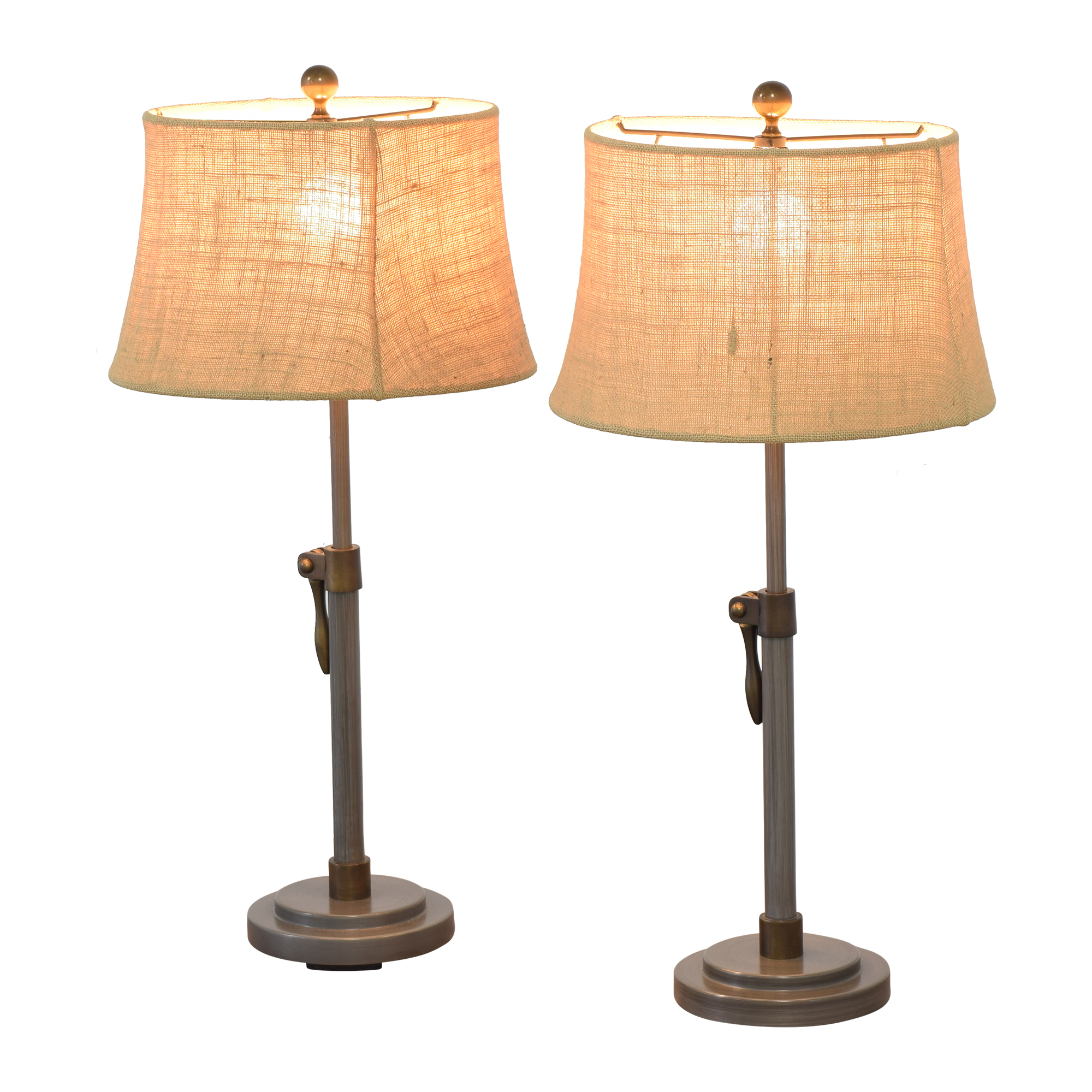Pottery Barn Pottery Barn Sutter Adjustable Lever Table Lamps second hand