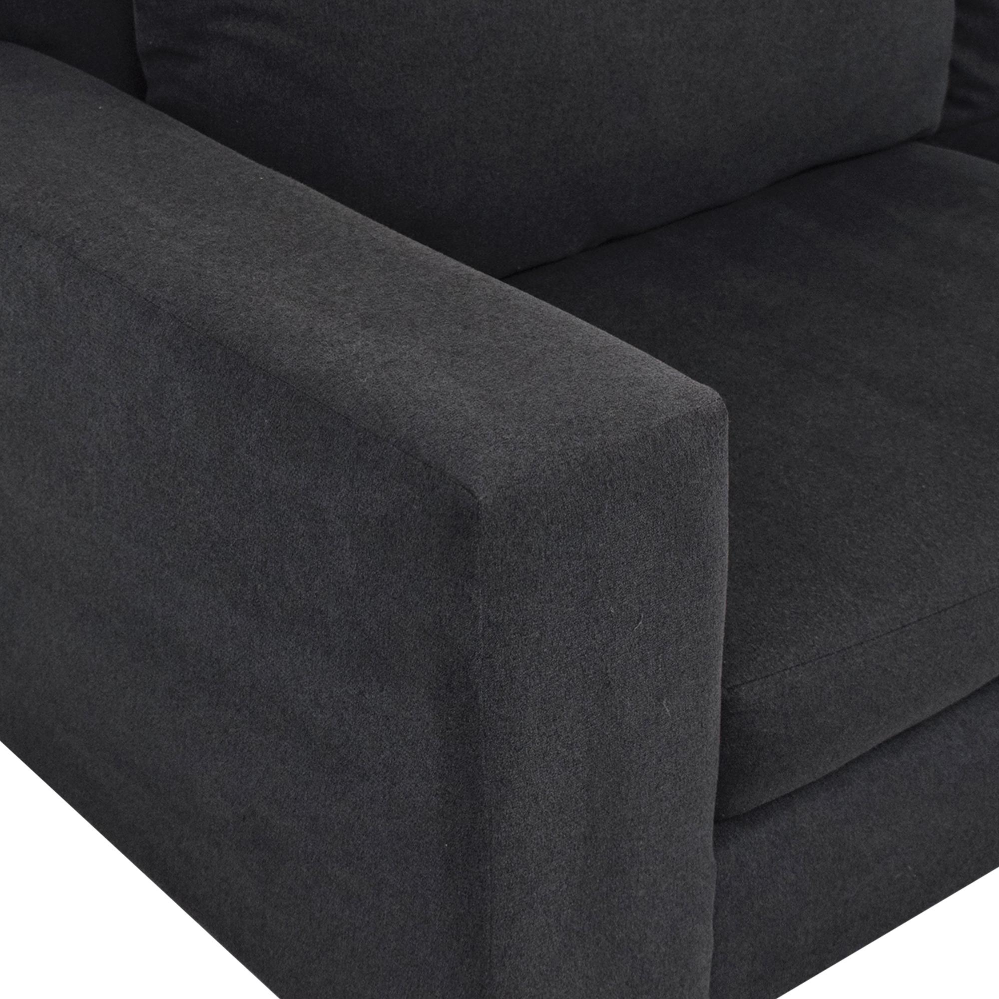 West Elm West Elm York Grey Two-Cushion Sofa nyc