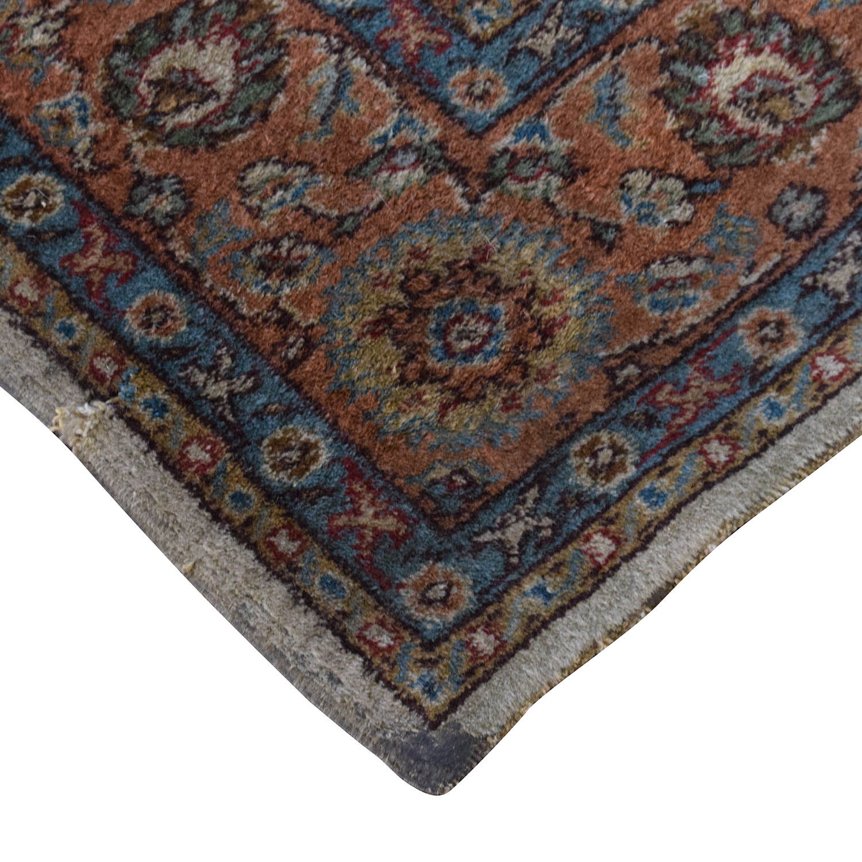 Turkish Beige Red Wool Rug nj