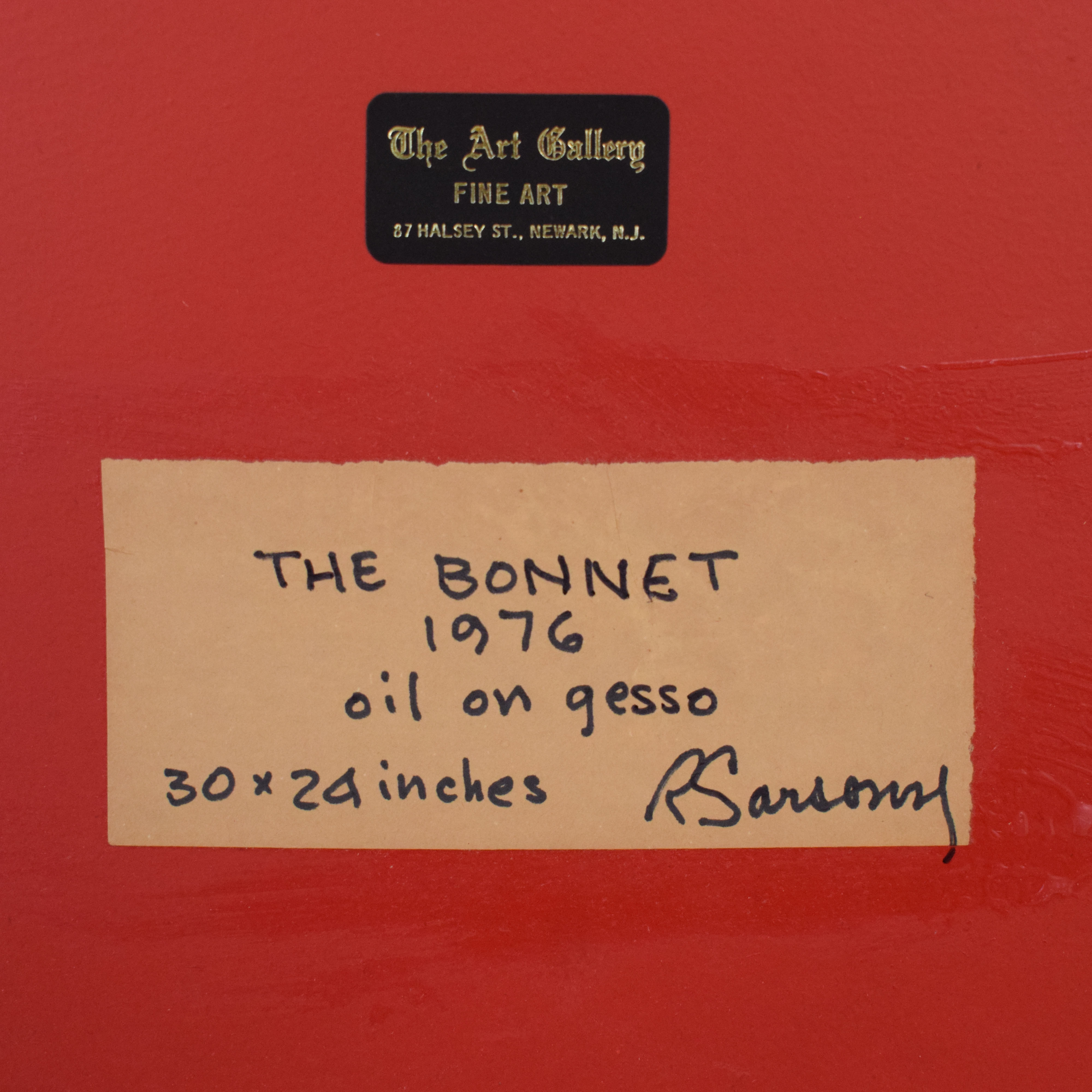 buy Robert Sarsony The Bonnet c1976