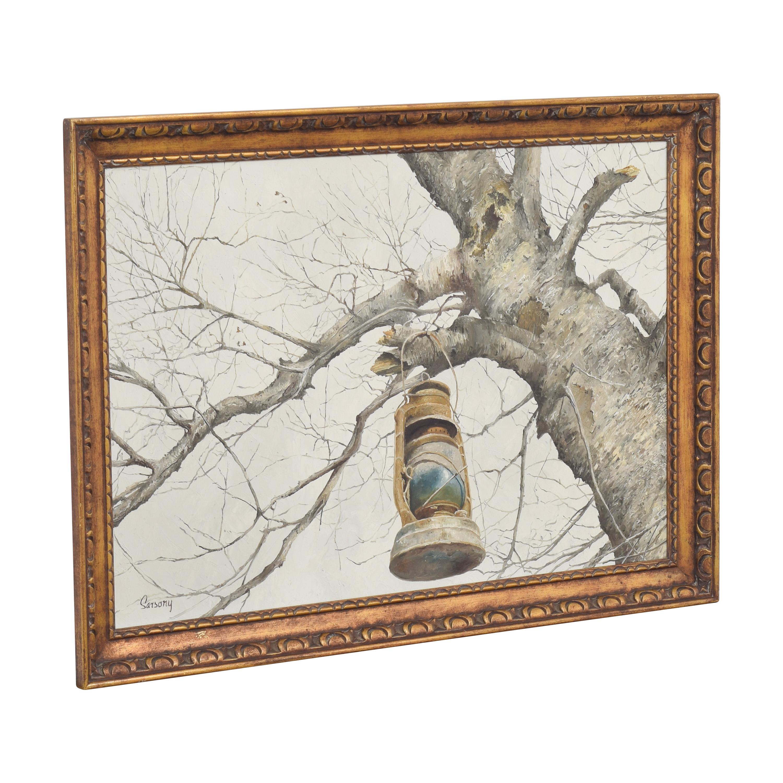 shop Robert Sarsony Tree and Lantern Framed Art  Wall Art