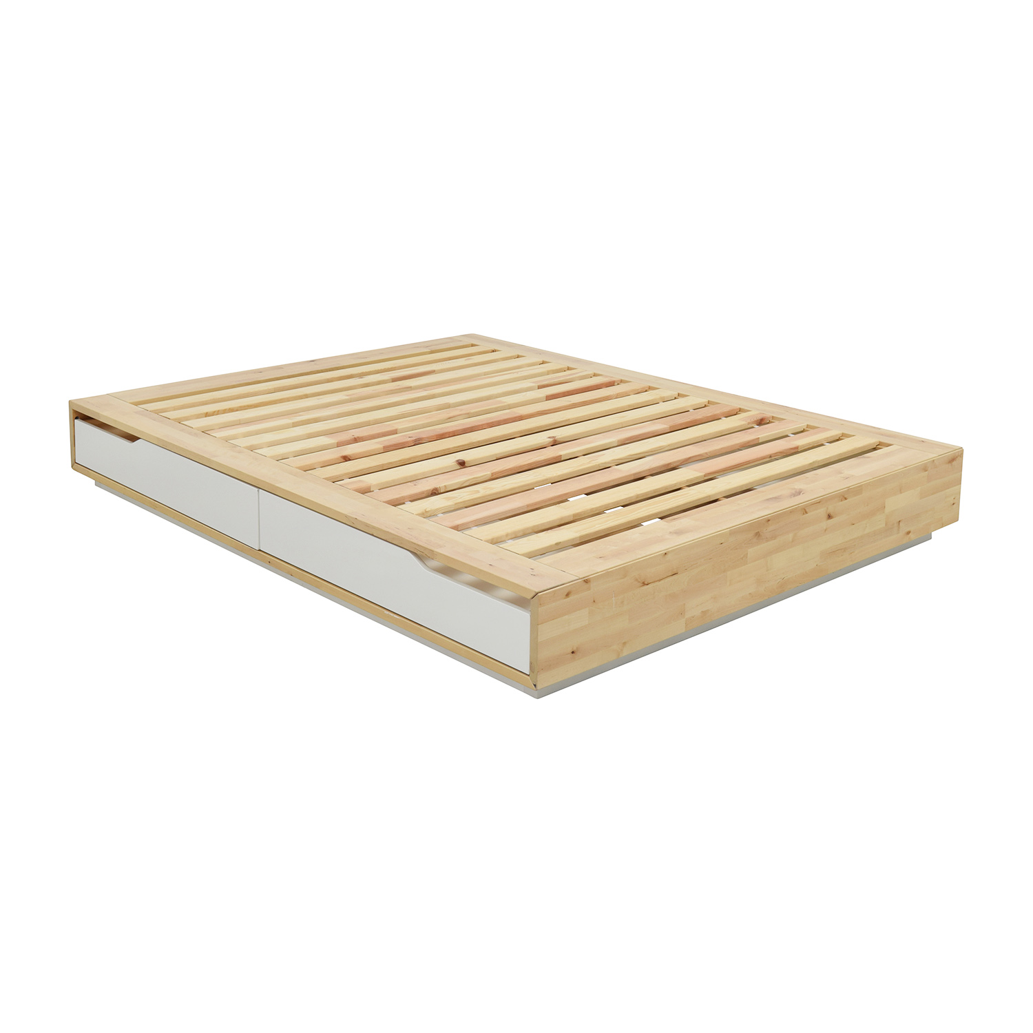 Birch Wood Queen Bed Frame With Storage Ikea Beds