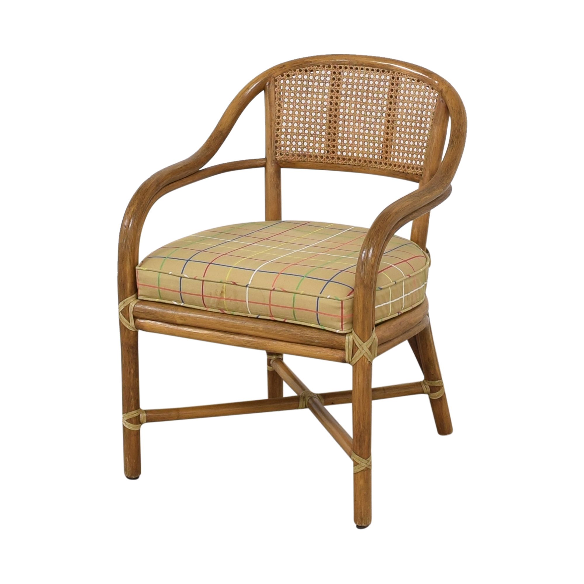 McGuire McGuire Wicker Dining Chairs second hand