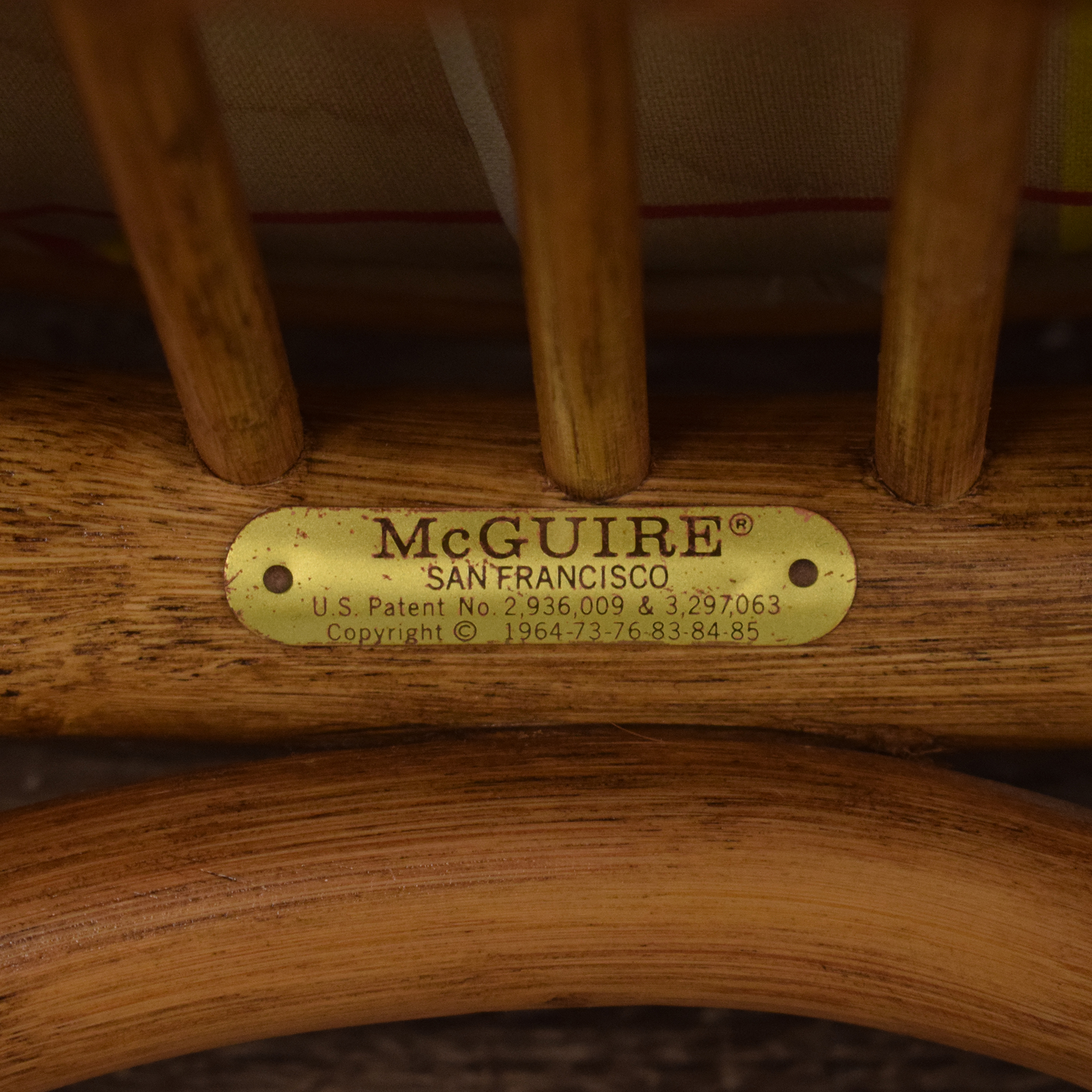 McGuire McGuire Wicker Dining Chairs nj