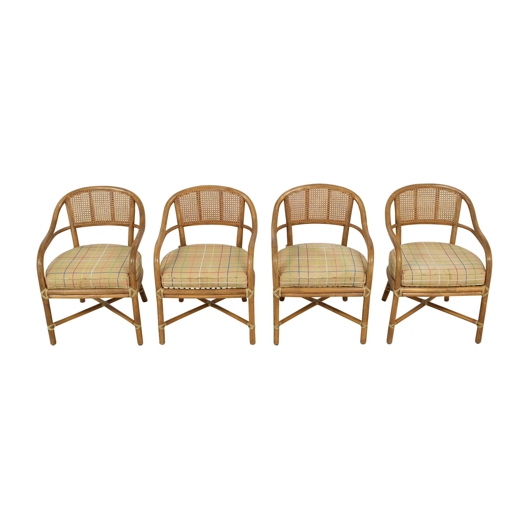 McGuire McGuire Wicker Dining Chairs nyc