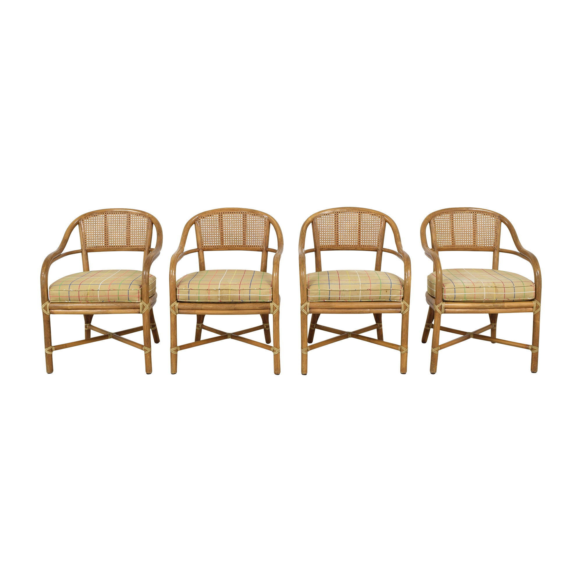 McGuire McGuire Wicker Dining Chairs on sale