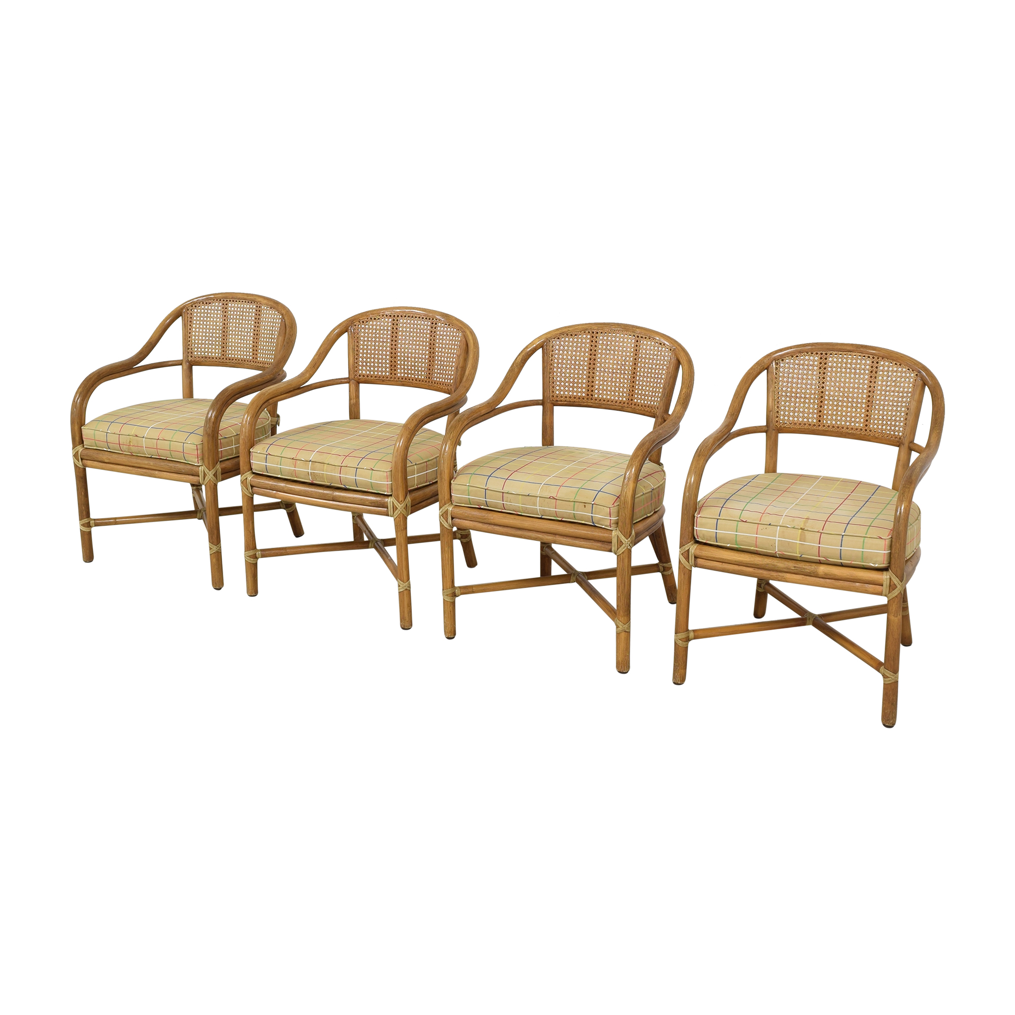 McGuire McGuire Wicker Dining Chairs discount