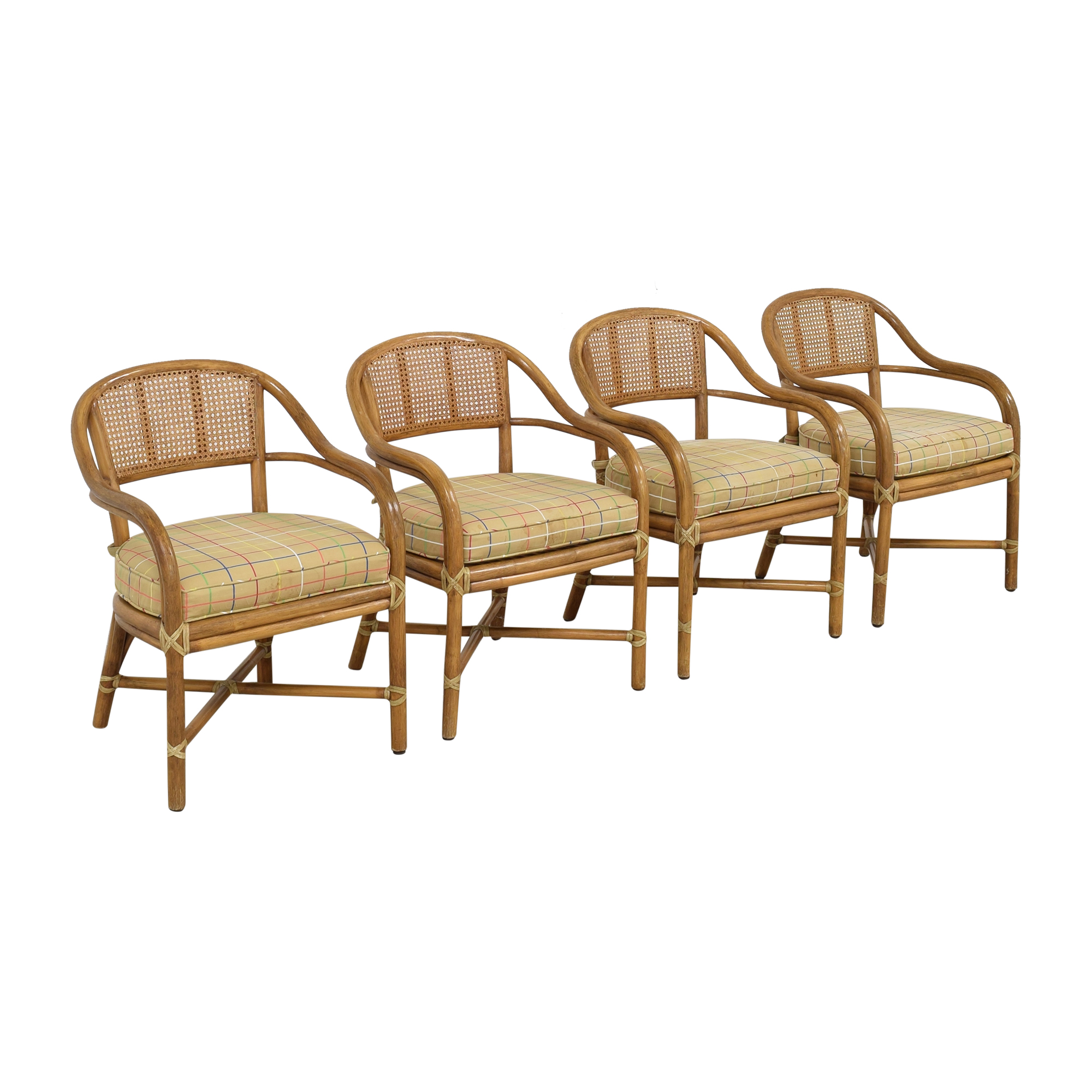 McGuire McGuire Wicker Dining Chairs pa