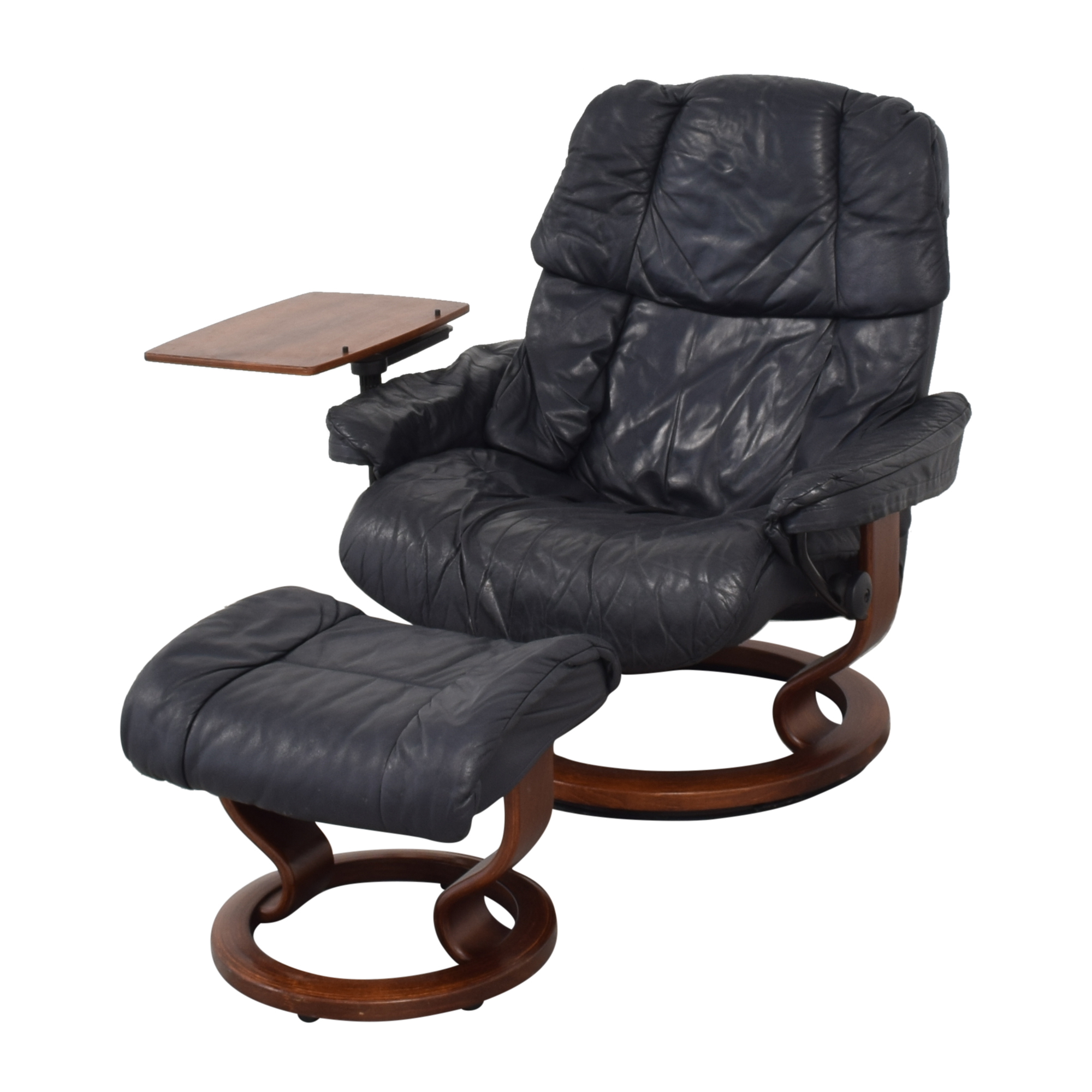 Ekornes Ekornes Stressless Reno with Footstool and Personal Table used