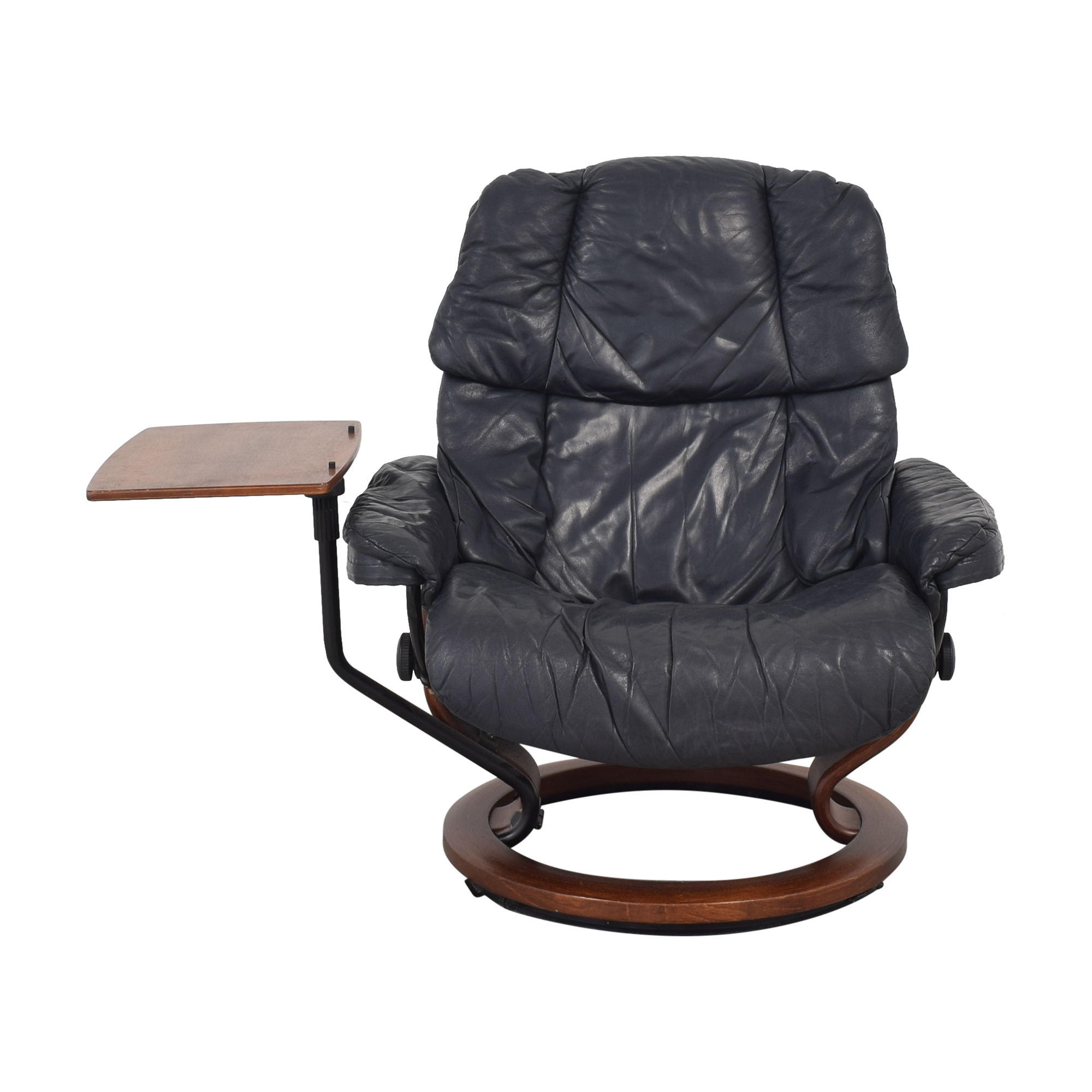 shop Ekornes Stressless Reno with Footstool and Personal Table Ekornes Chairs