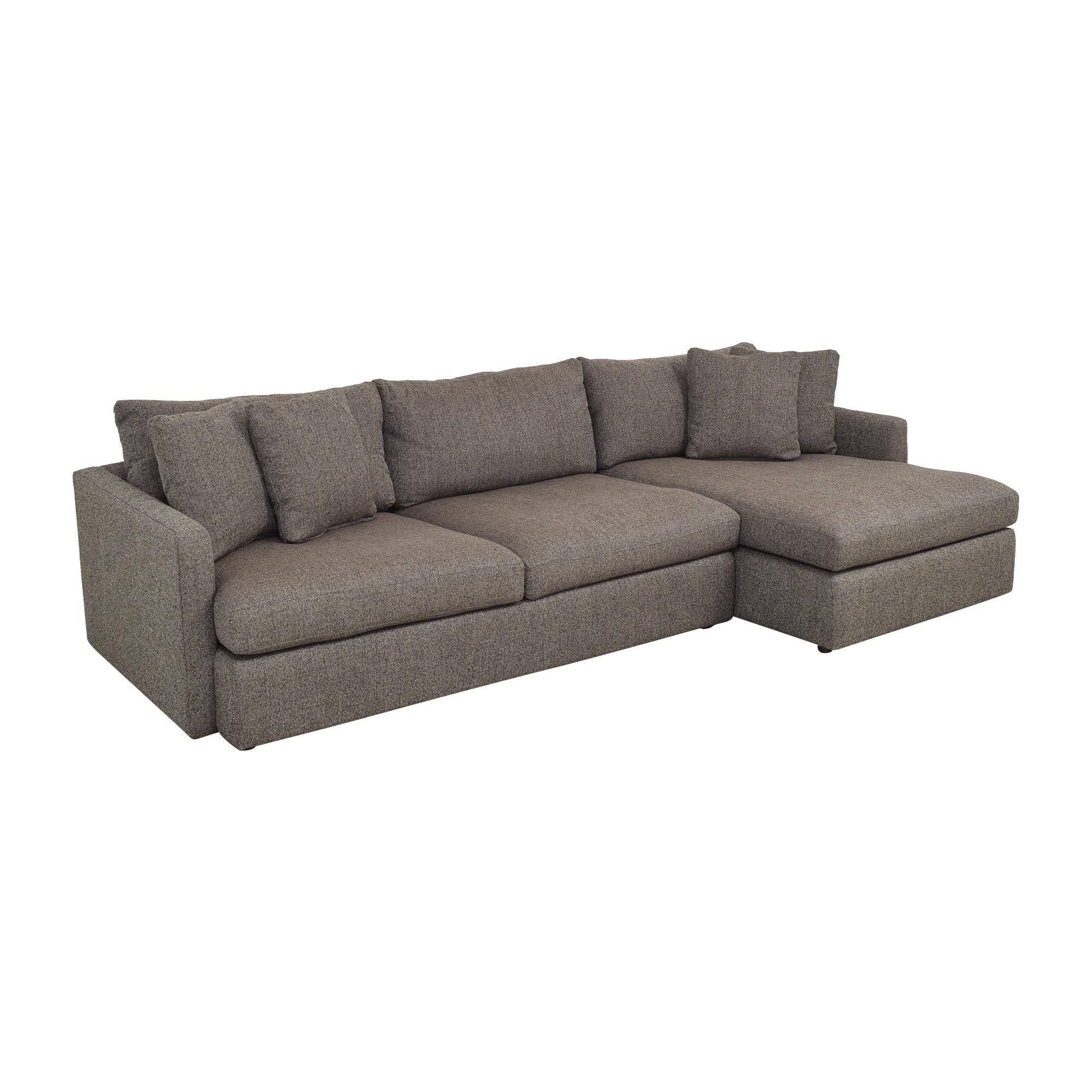 Crate & Barrel Crate & Barrel Lounge II 2-Piece Sectional Sofa ct