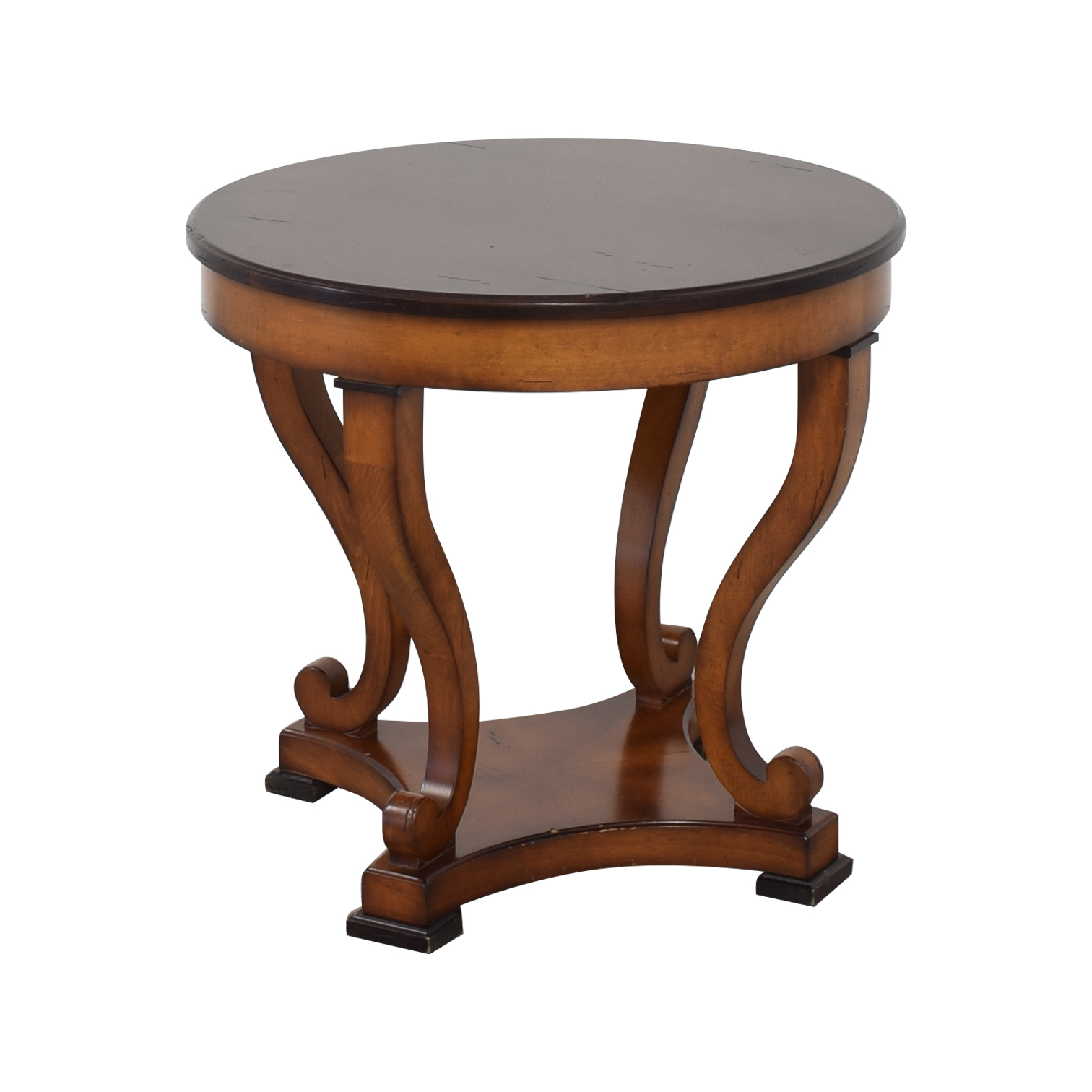 Chippendale Style Round Accent Table pa