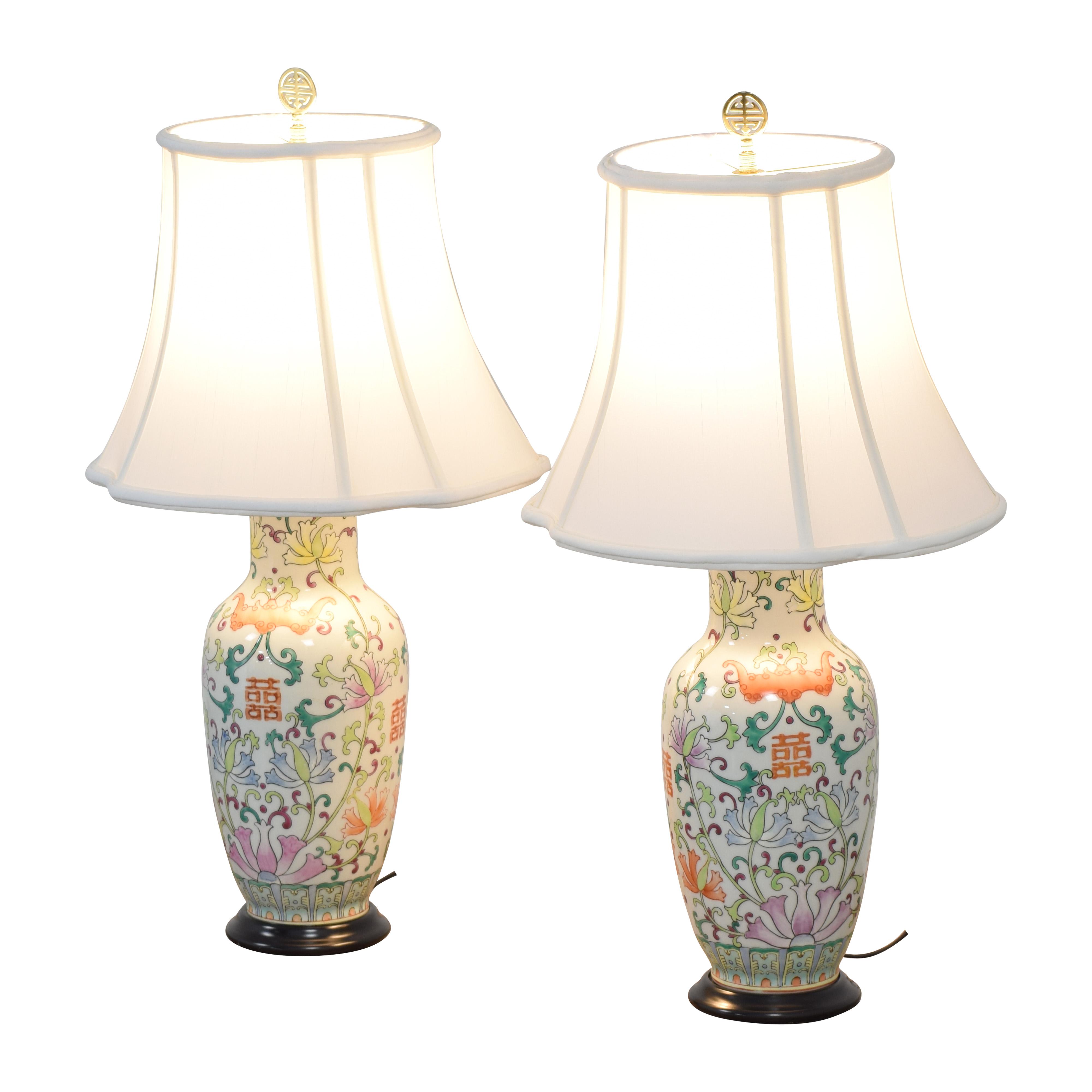 Bloomingdale's Bloomingdale's Floral Table Lamps multicolored