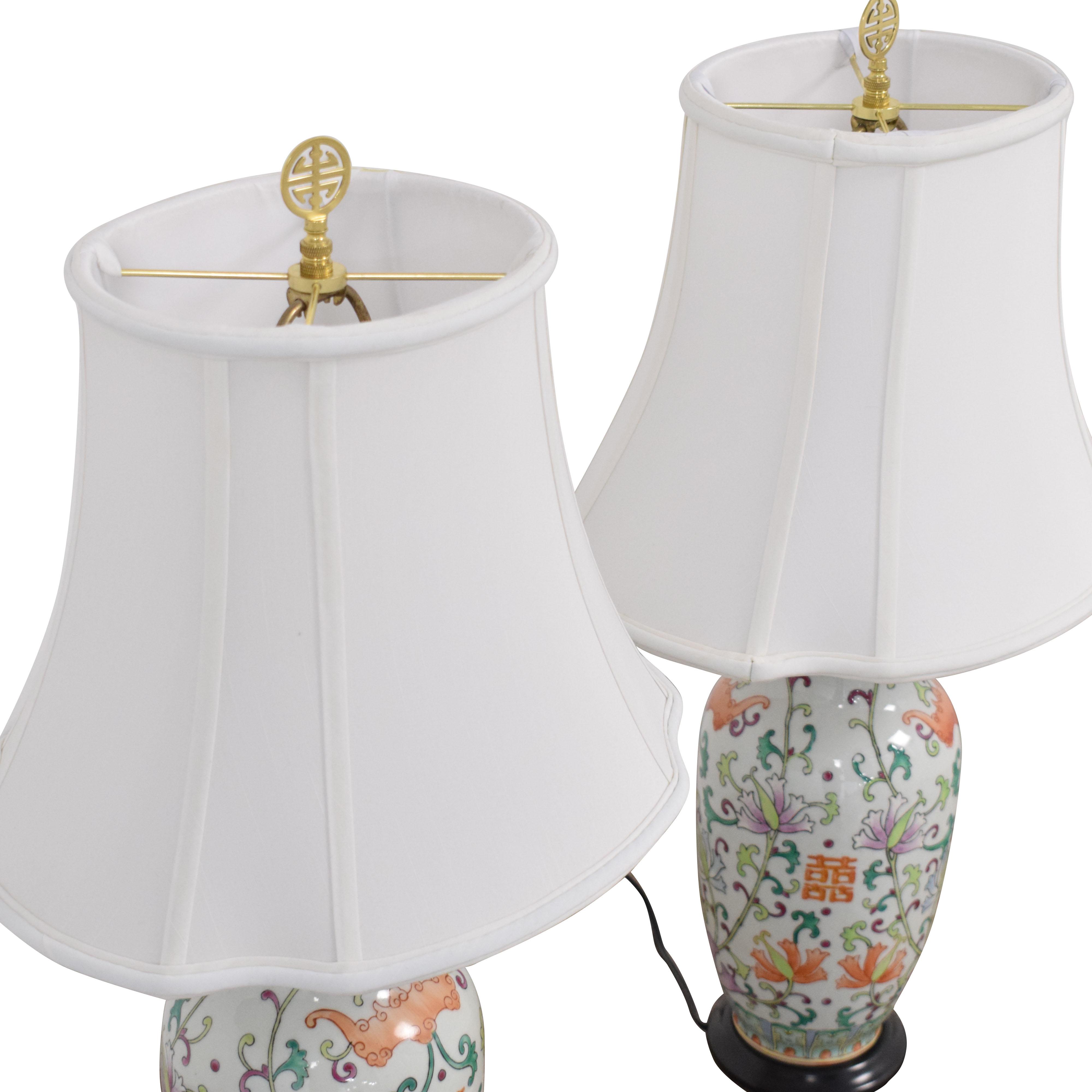Bloomingdale's Bloomingdale's Floral Table Lamps second hand