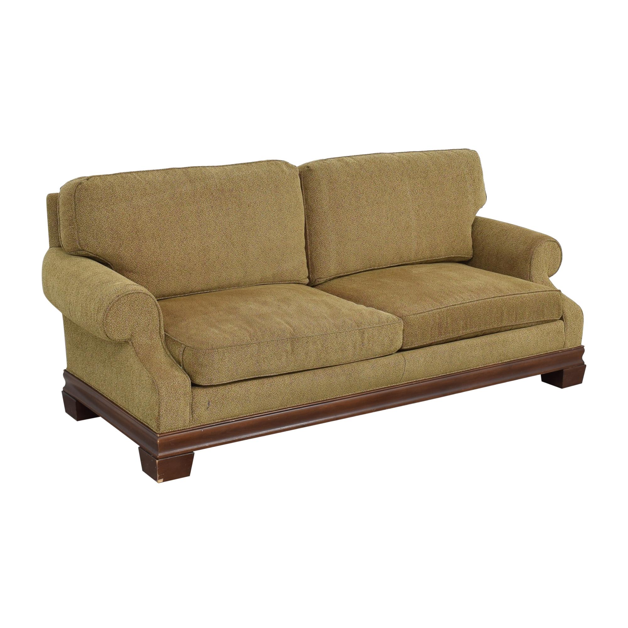 Custom Two Cushion Roll Arm Sofa
