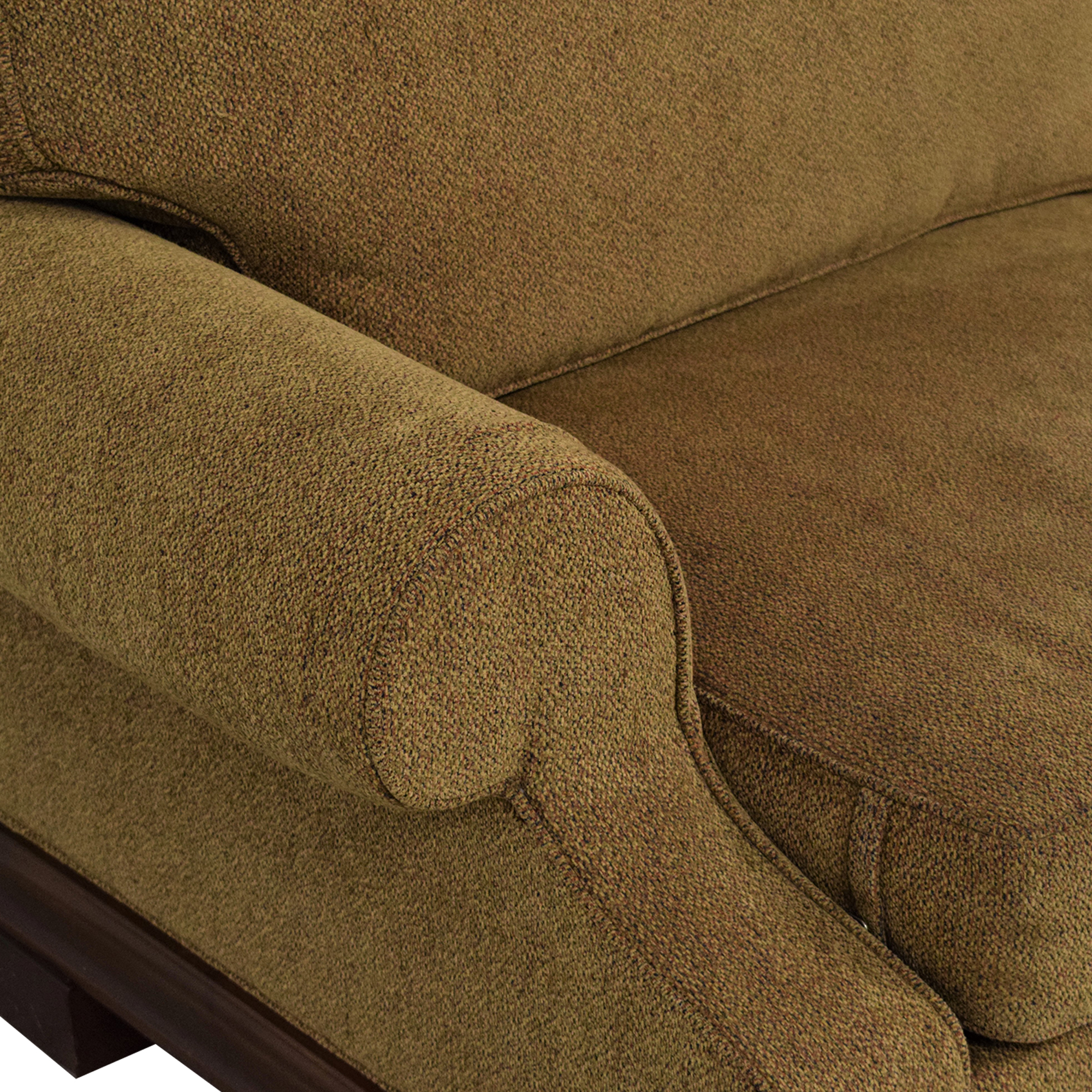 Custom Two Cushion Roll Arm Sofa price