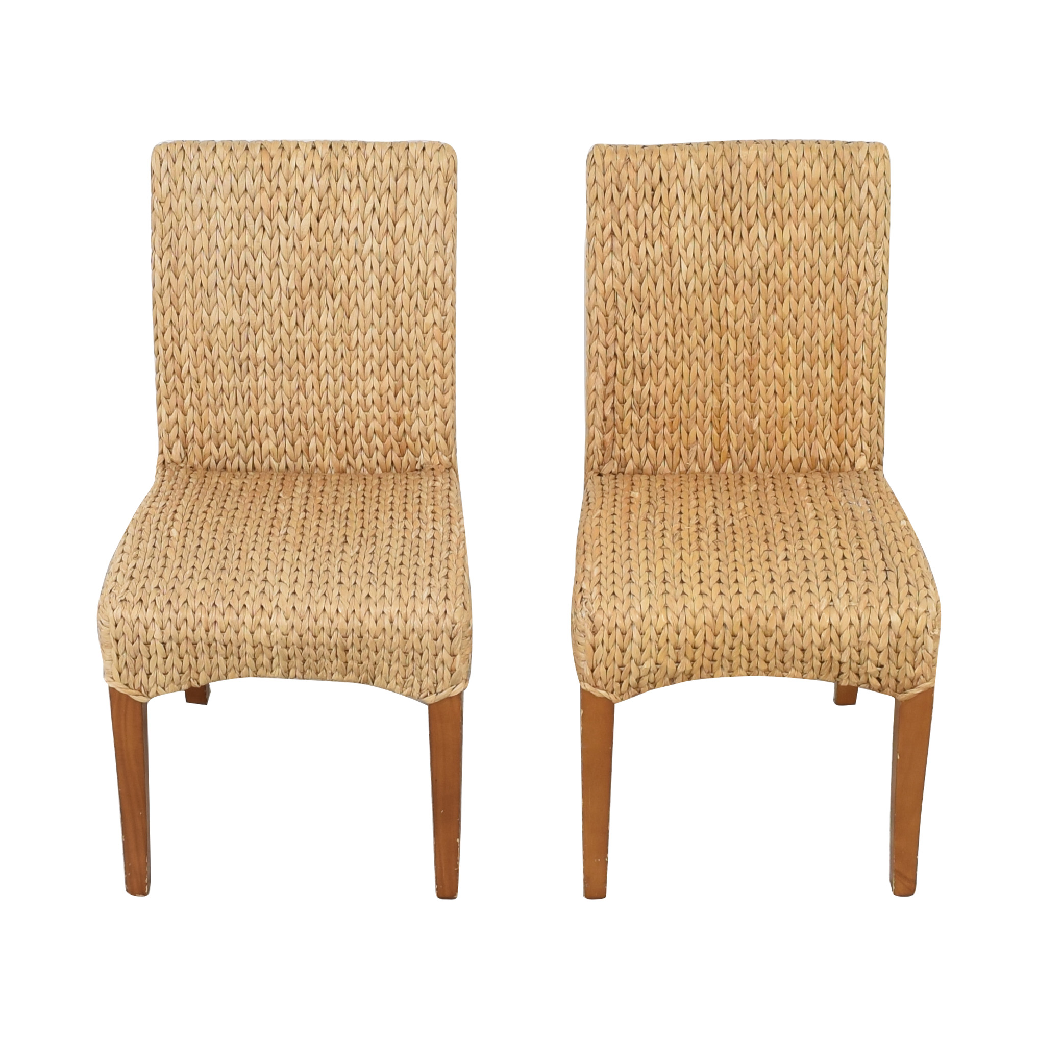 Pottery Barn Pottery Barn Seagrass Dining Side Chairs second hand