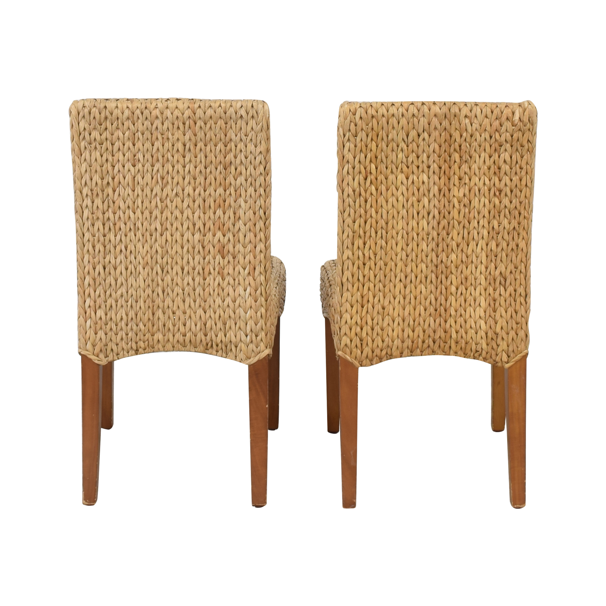 Pottery Barn Pottery Barn Seagrass Dining Side Chairs discount