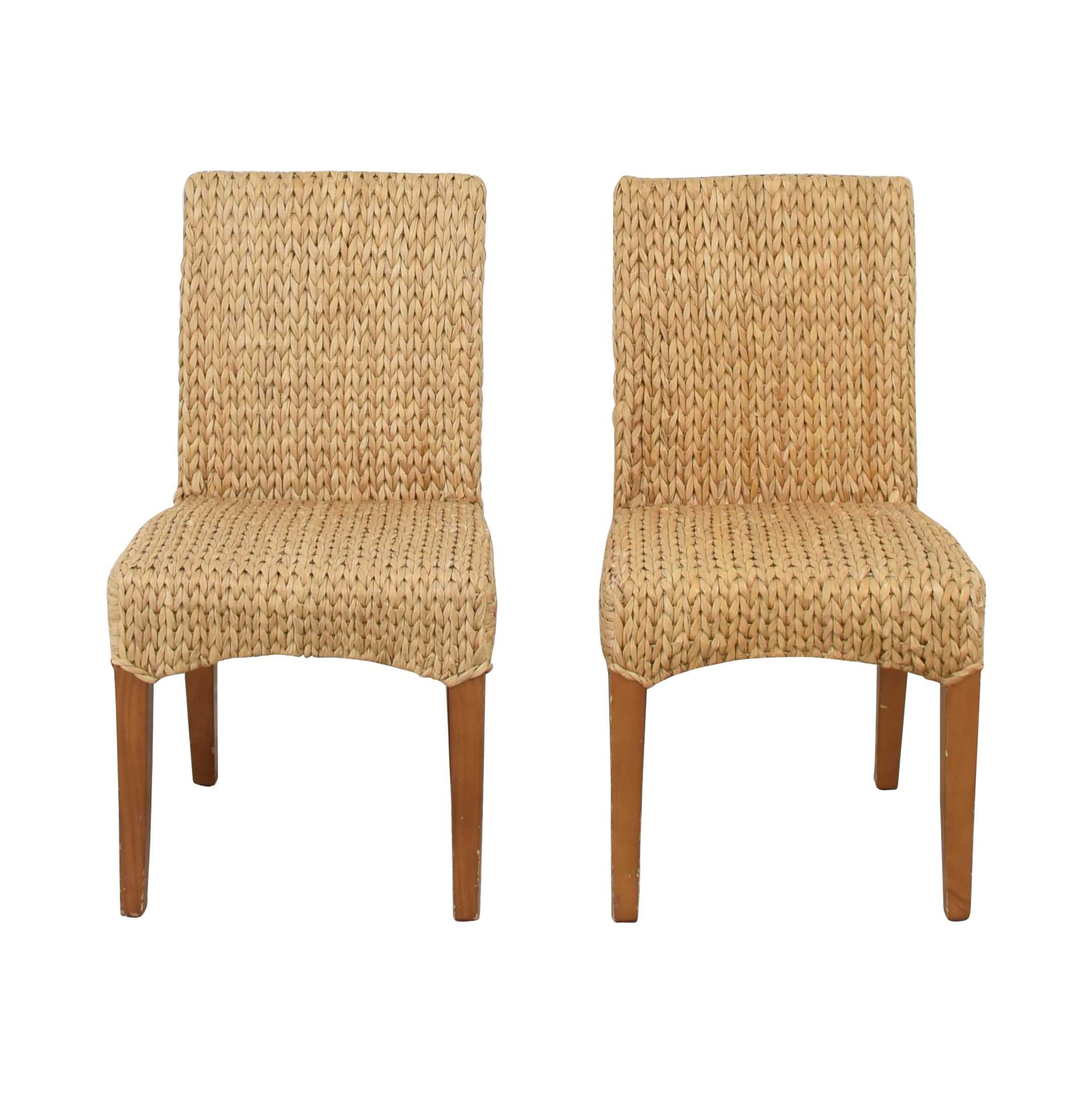 buy Pottery Barn Seagrass Dining Side Chairs Pottery Barn Chairs