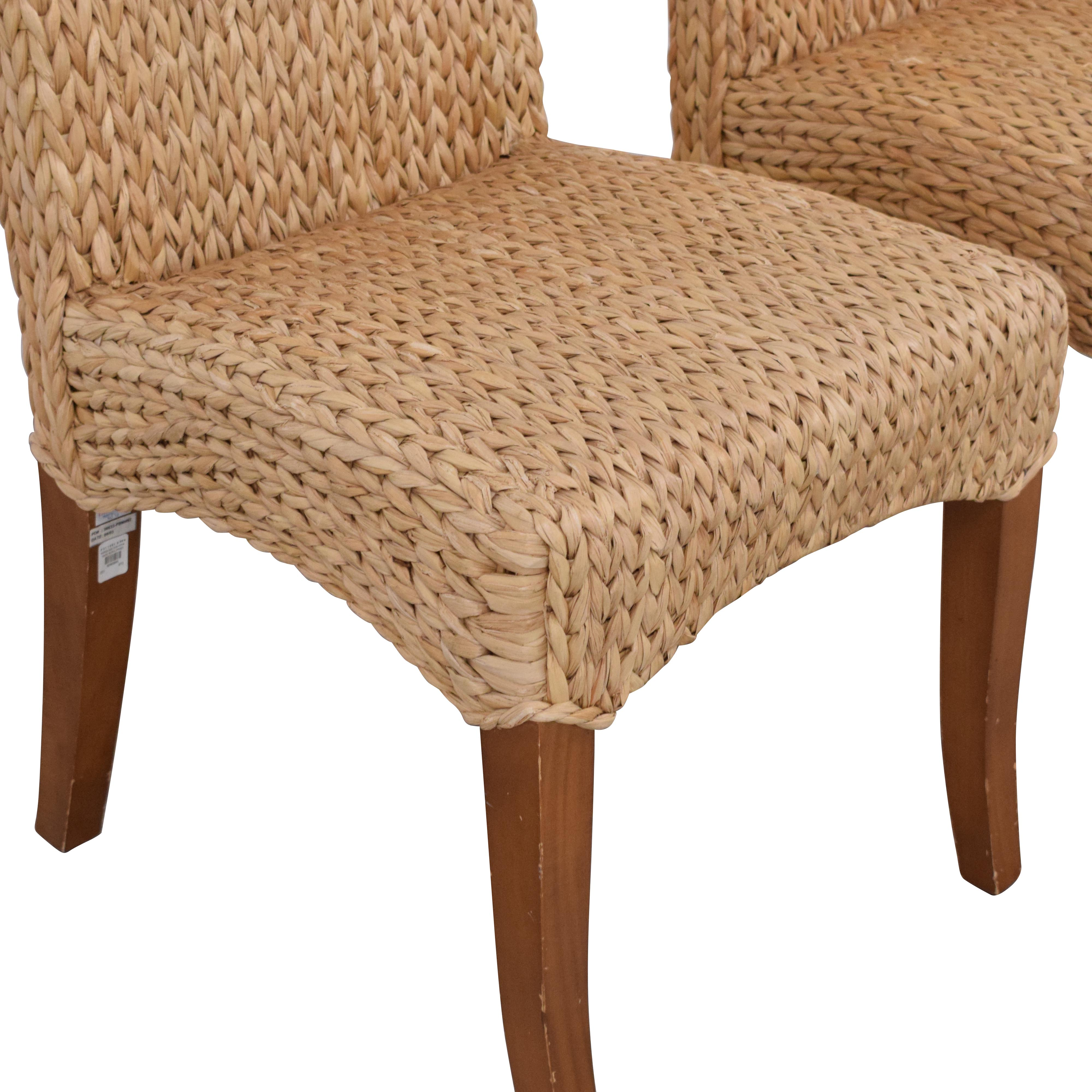 shop Pottery Barn Seagrass Dining Side Chairs Pottery Barn