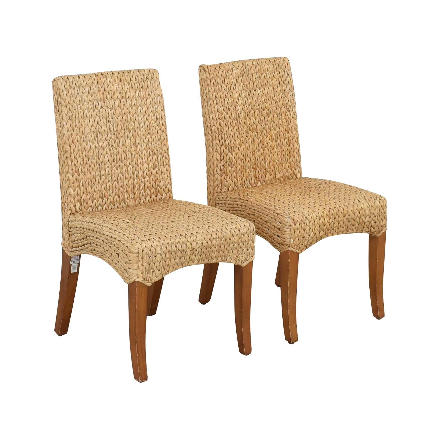 Pottery Barn Seagrass Dining Side Chairs sale