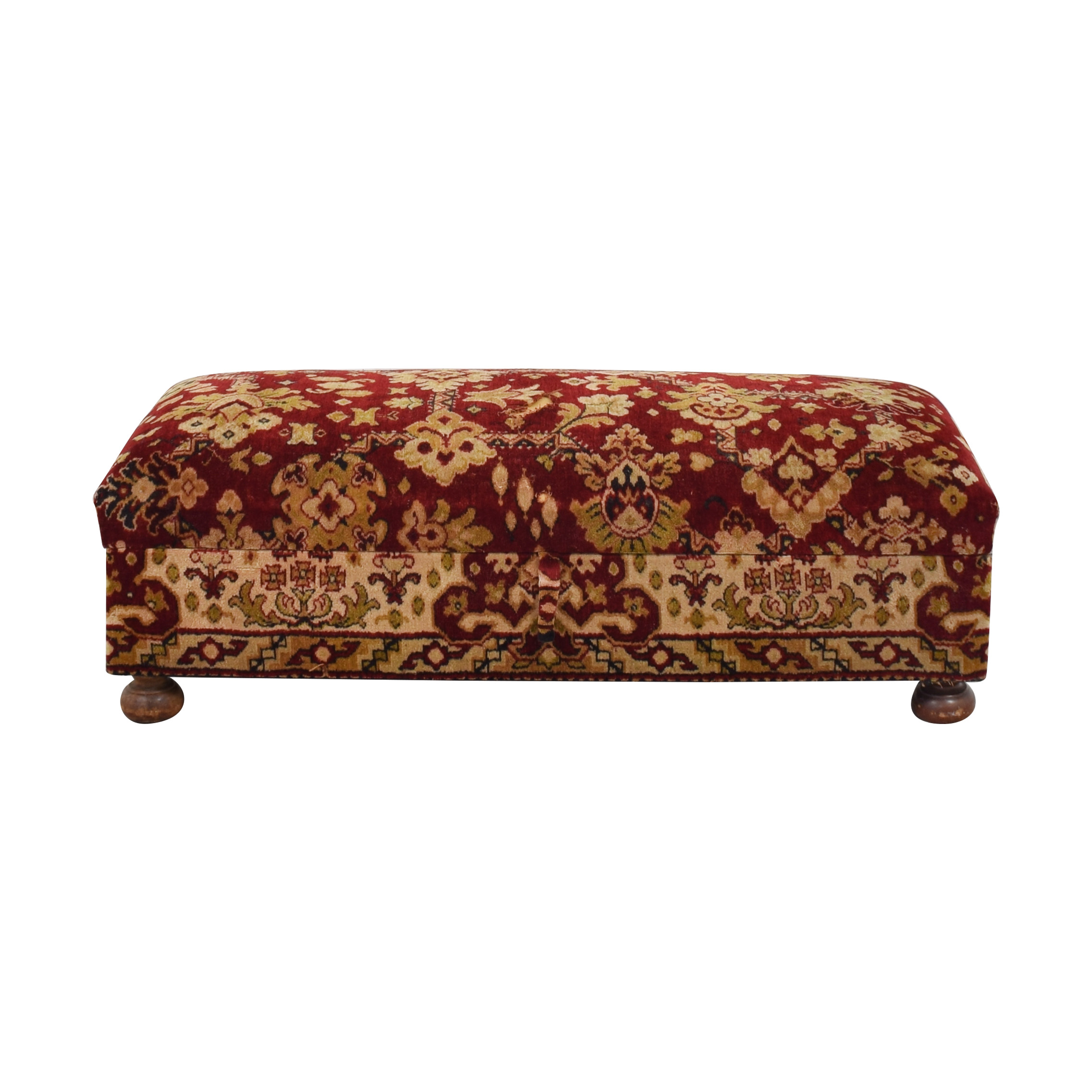 Custom Ottoman with Storage second hand
