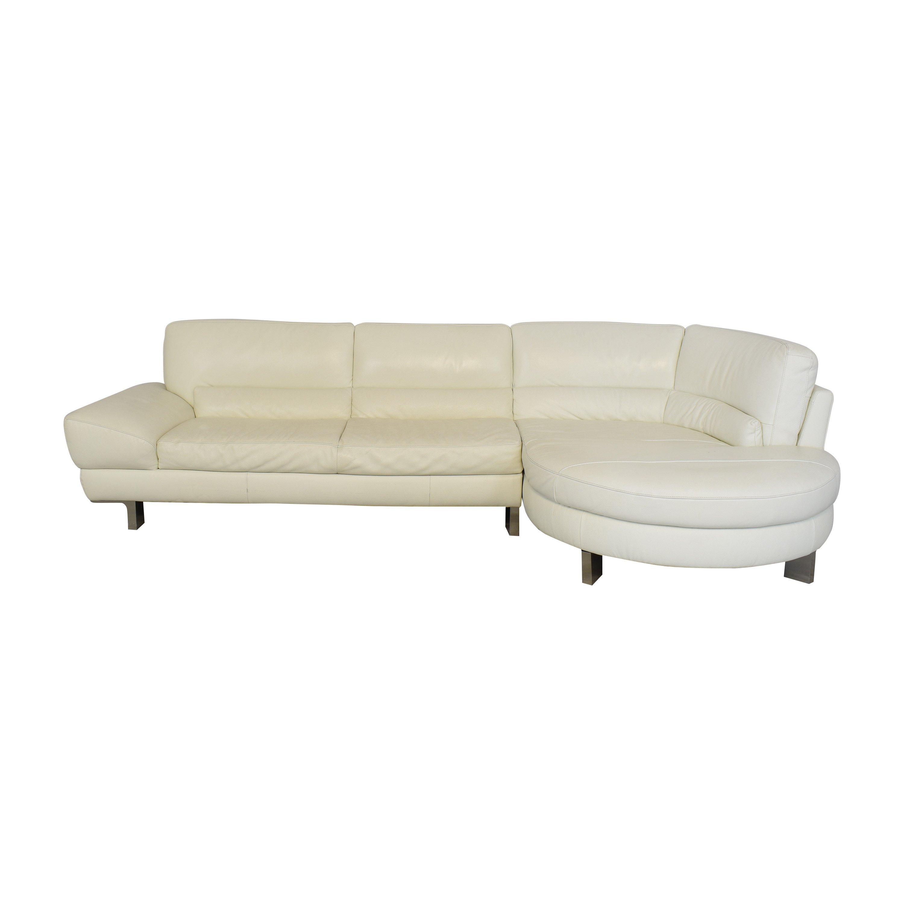 Italsofa Italsofa Curved Sectional Sofa dimensions
