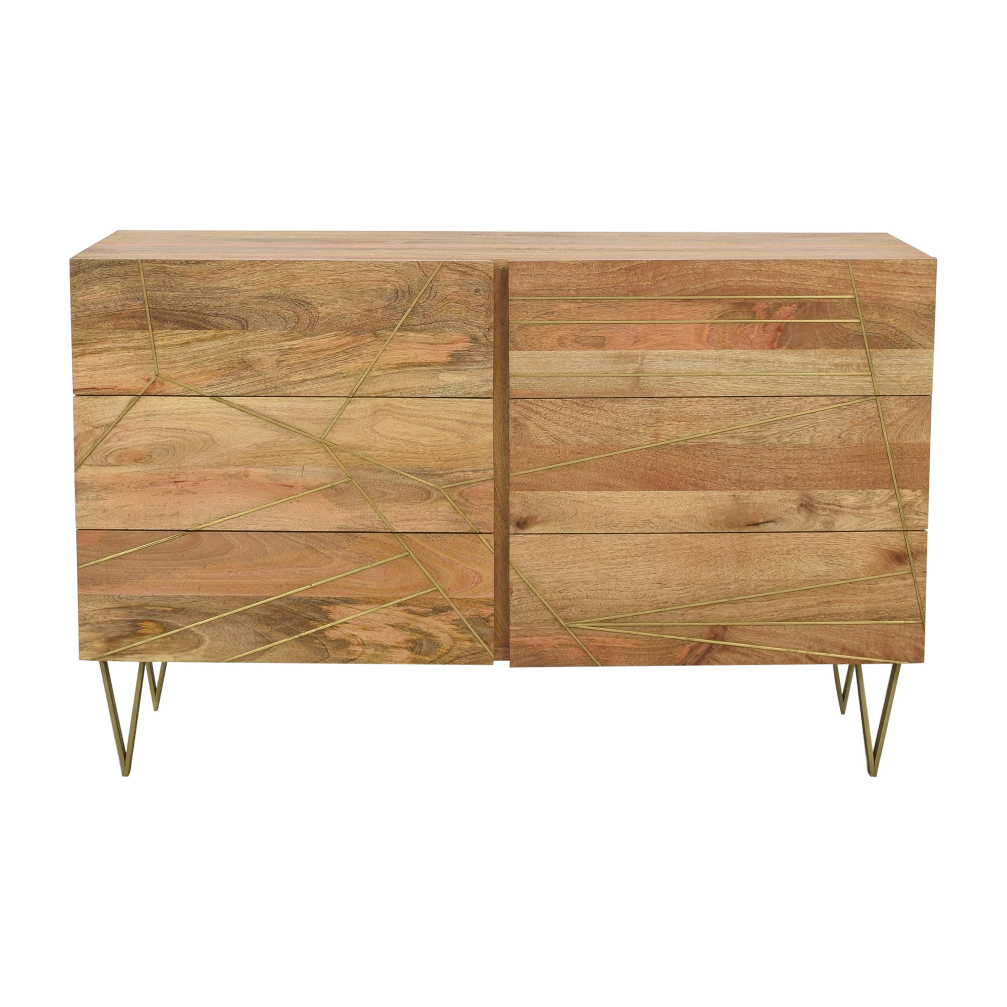 West Elm West Elm Roar & Rabbit Brass Geo Inlay 6-Drawer Dresser coupon