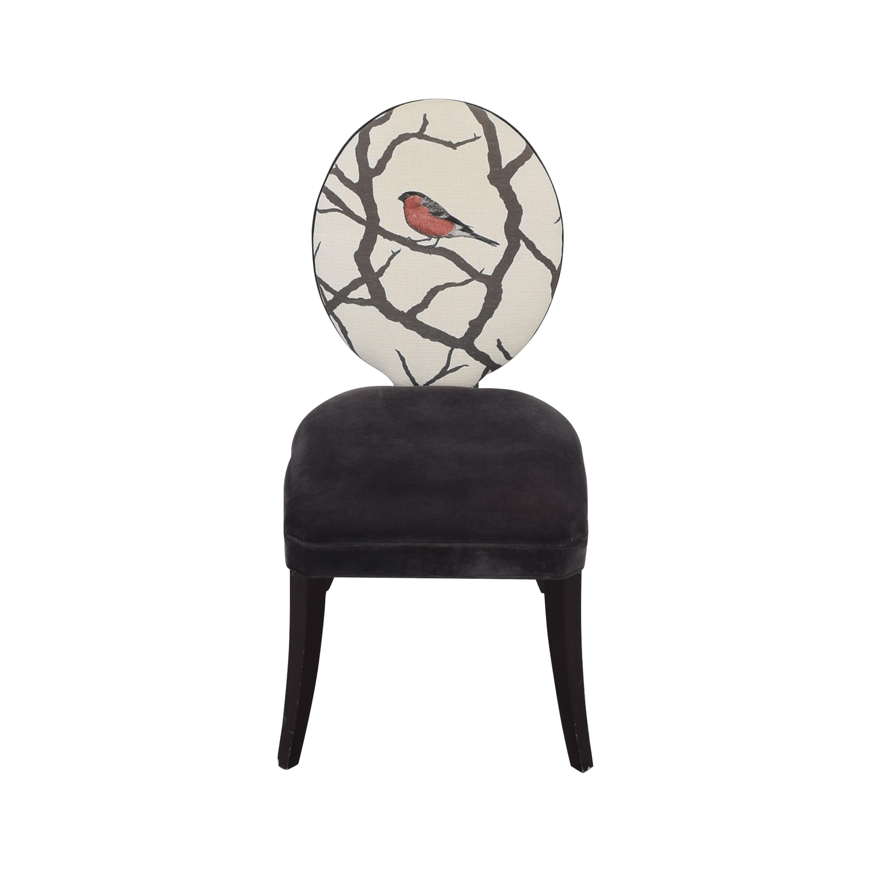 Mitchell Gold + Bob Williams Oval Back Side Chair with Bird Print sale