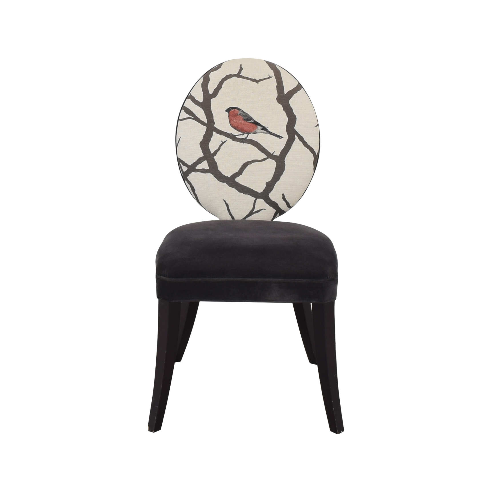 buy Mitchell Gold + Bob Williams Mitchell Gold + Bob Williams Oval Back Side Chair with Bird Print online