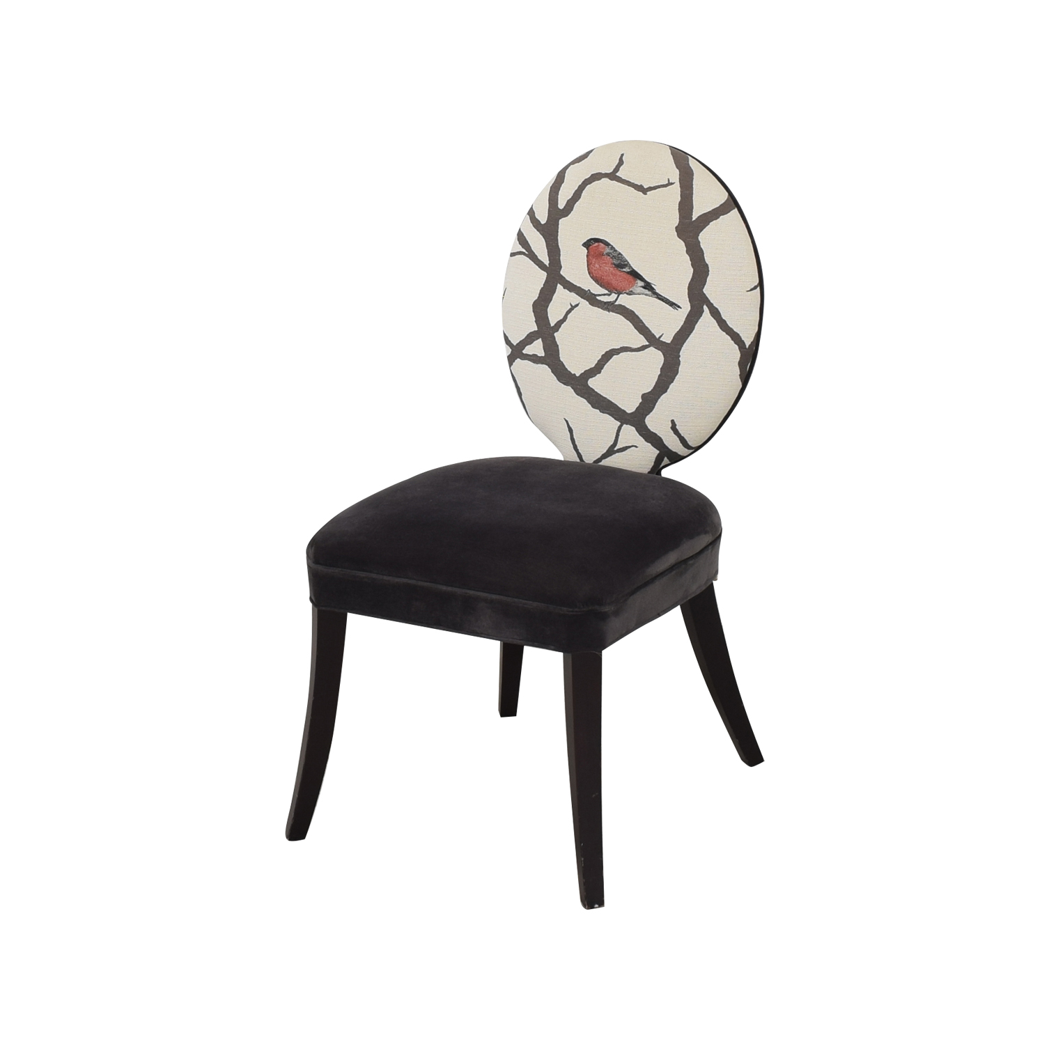 Mitchell Gold + Bob Williams Mitchell Gold + Bob Williams Oval Back Side Chair with Bird Print nyc