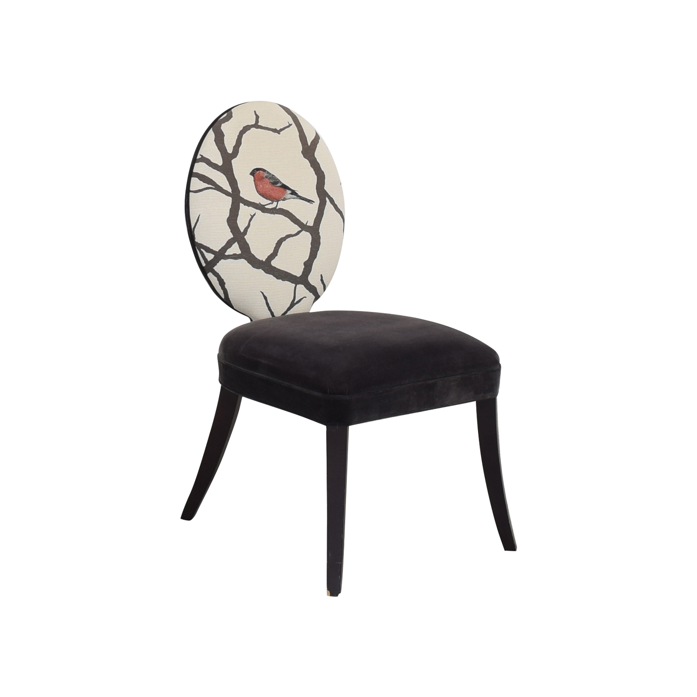 Mitchell Gold + Bob Williams Mitchell Gold + Bob Williams Oval Back Side Chair with Bird Print ma