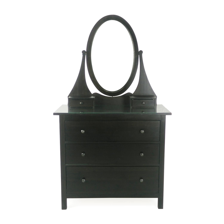 60 Off Ikea Three Drawer Dresser With Mirror Storage