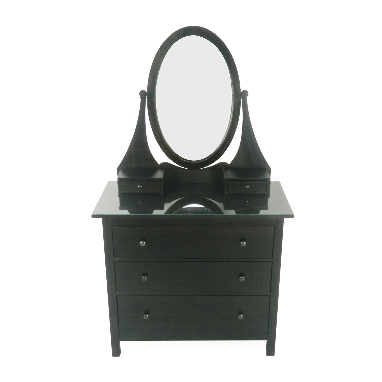 IKEA Three Drawer Dresser with Mirror second hand