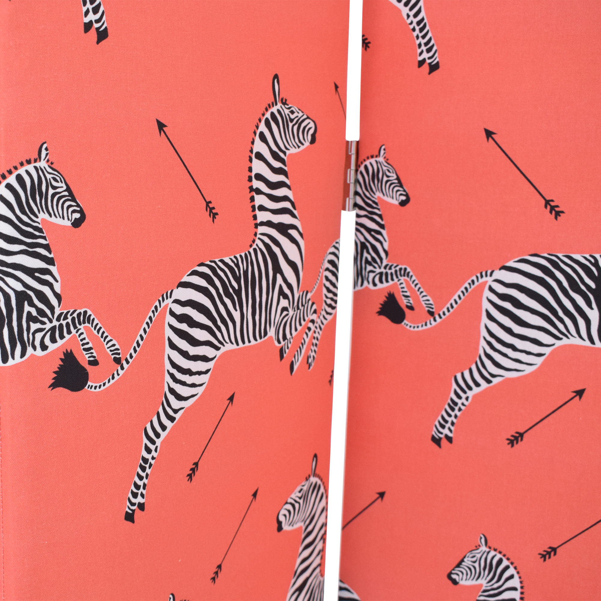 The Inside The Inside Scalloped Screen in Coral Zebra by Scalamandré price